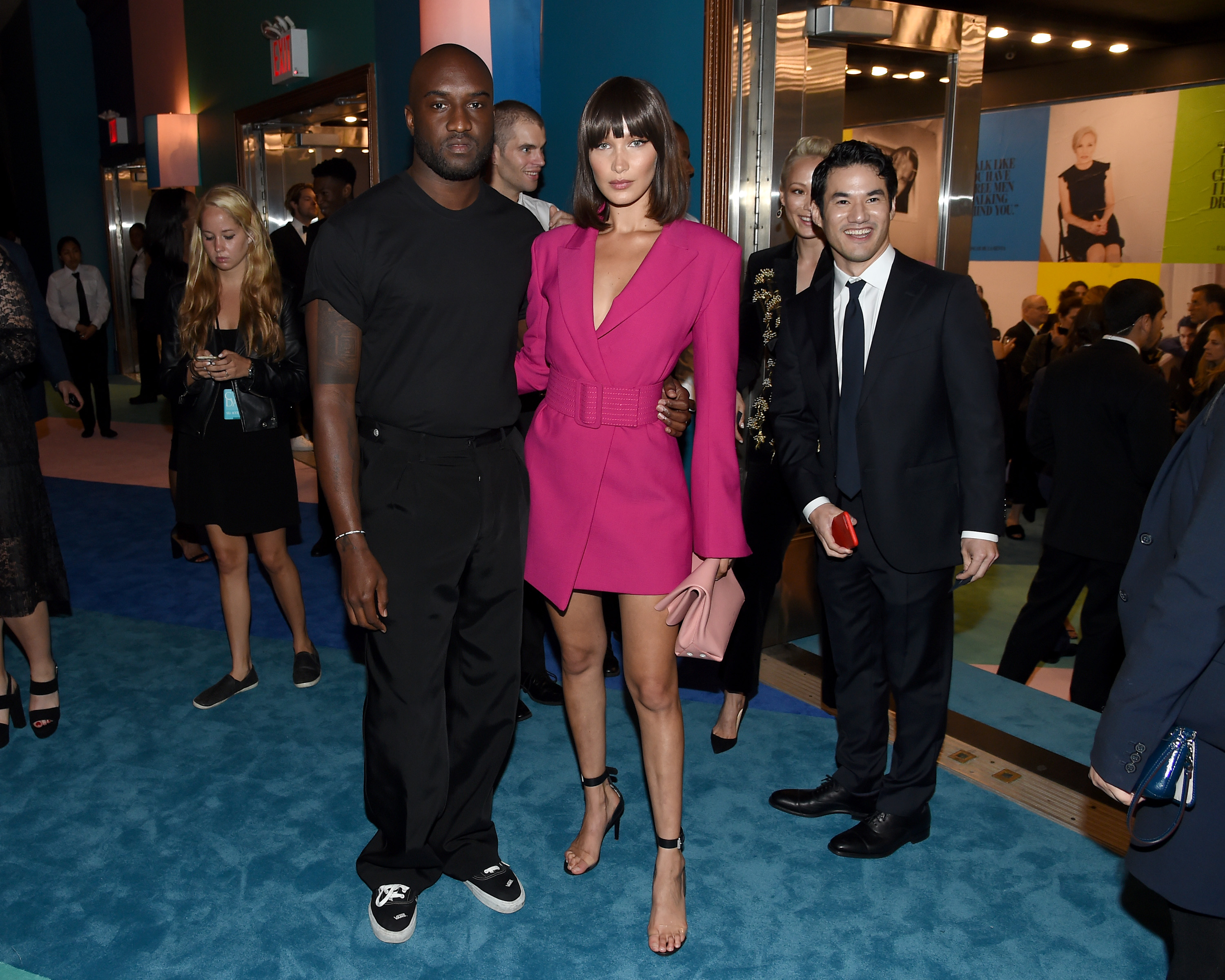 NEW YORK, NY - JUNE 05:  Virgil Abloh and Bella Hadid attend the 2017 CFDA Fashion Awards at Hammerstein Ballroom on June 5, 2017 in New York City.  (Photo by Nicholas Hunt/Getty Images)