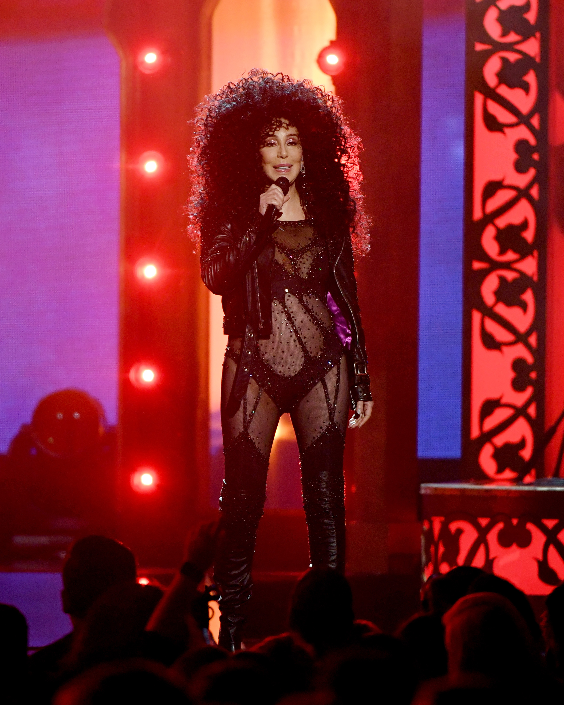 LAS VEGAS, NV - MAY 21:  Actress/singer Cher performs during the 2017 Billboard Music Awards at T-Mobile Arena on May 21, 2017 in Las Vegas, Nevada.  (Photo by Ethan Miller/Getty Images)
