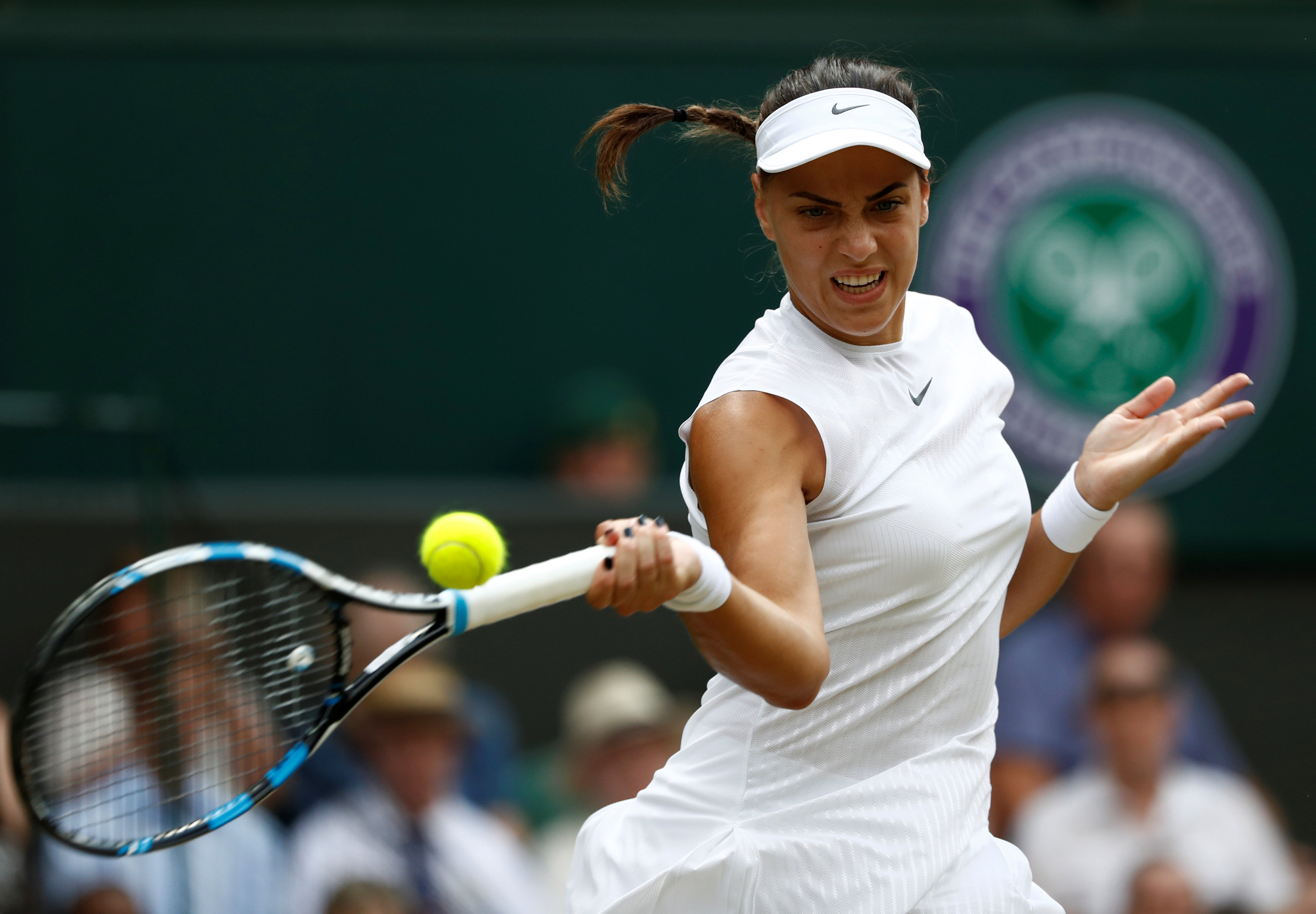 Tennis - Wimbledon - London, Britain - July 10, 2017   Croatia's Ana Konjuh in action during her fourth round match against Venus Williams of the U.S.     REUTERS/Stefan Wermuth