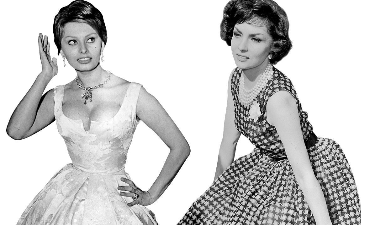 Sophia Loren (lijevo) i Gina Lollobrigida (desno)