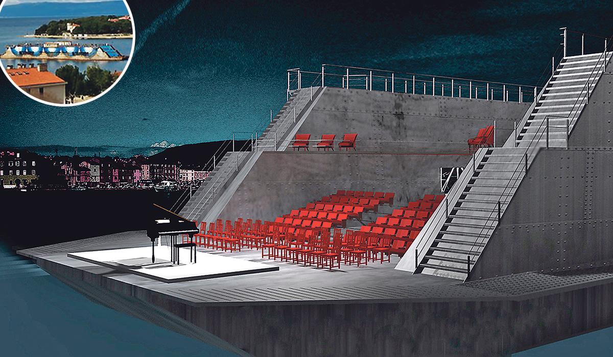 Idejno rješenje prema kojem bi se Dok 9 mogao iskoristiti kao ljetna pozornica za koncerte, kazališne predstave, kino, ali i kao vez za dvjestotinjak brodica, kao turističko-ugostiteljski objekt