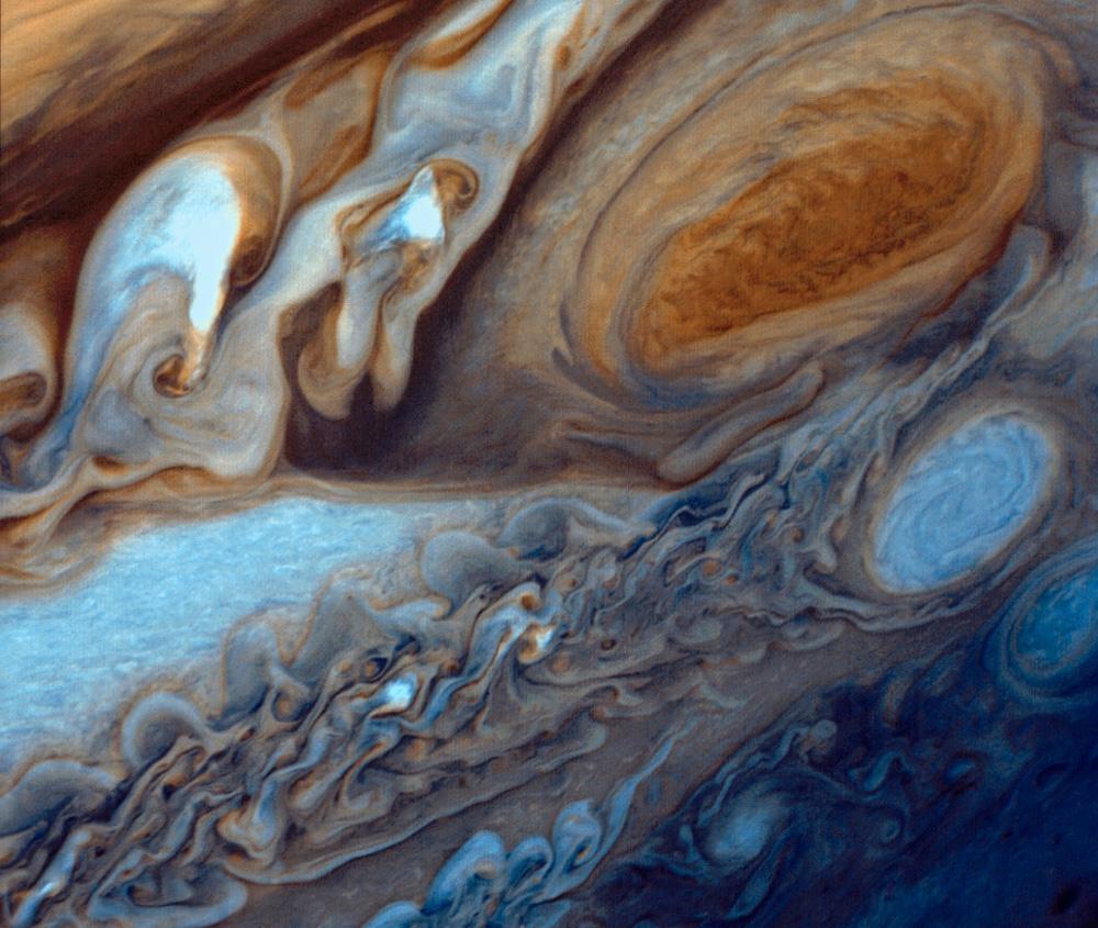 Velika crvena pjega, kako ju je snimila letjelica Voyager I 1979. godine