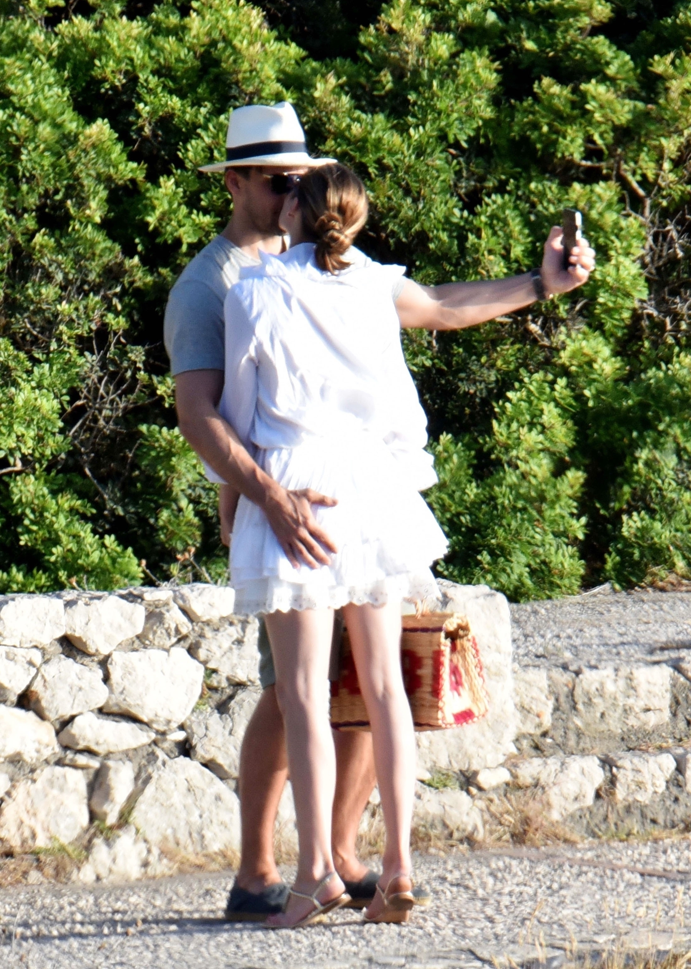 *EXCLUSIVE* ** RIGHTS: WORLDWIDE EXCEPT IN FRANCE, ITALY, SPAIN ** Italy, ITALY  - American socialite Olivia Palermo and husband Johannes Huebl pictured taking in some sightseeing while on Holiday In Capri - Olivia's Husband Johannes Huebl is pictured having a cheeky grab of Olivia derriere as they took a selfie and shared a kiss together.  Pictured: Olivia Palermo and Johannes Huebl  BACKGRID UK 10 JULY 2017   UK: +44 208 344 2007 / uksales@backgrid.com  USA: +1 310 798 9111 / usasales@backgrid.com  *UK Clients - Pictures Containing Children Please Pixelate Face Prior To Publication*, Image: 341498148, License: Rights-managed, Restrictions: , Model Release: no, Credit line: Profimedia, Xposurephotos