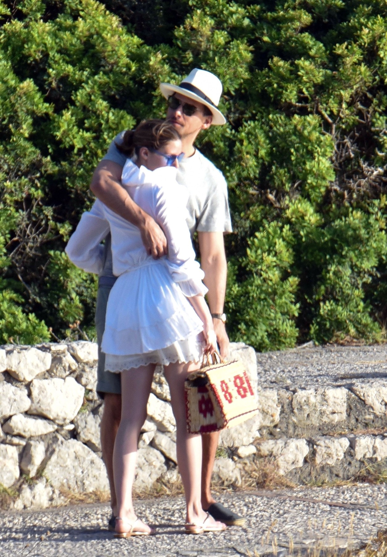 *EXCLUSIVE* ** RIGHTS: WORLDWIDE EXCEPT IN FRANCE, ITALY, SPAIN ** Italy, ITALY  - American socialite Olivia Palermo and husband Johannes Huebl pictured taking in some sightseeing while on Holiday In Capri - Olivia's Husband Johannes Huebl is pictured having a cheeky grab of Olivia derriere as they took a selfie and shared a kiss together.  Pictured: Olivia Palermo and Johannes Huebl  BACKGRID UK 10 JULY 2017   UK: +44 208 344 2007 / uksales@backgrid.com  USA: +1 310 798 9111 / usasales@backgrid.com  *UK Clients - Pictures Containing Children Please Pixelate Face Prior To Publication*, Image: 341498170, License: Rights-managed, Restrictions: , Model Release: no, Credit line: Profimedia, Xposurephotos