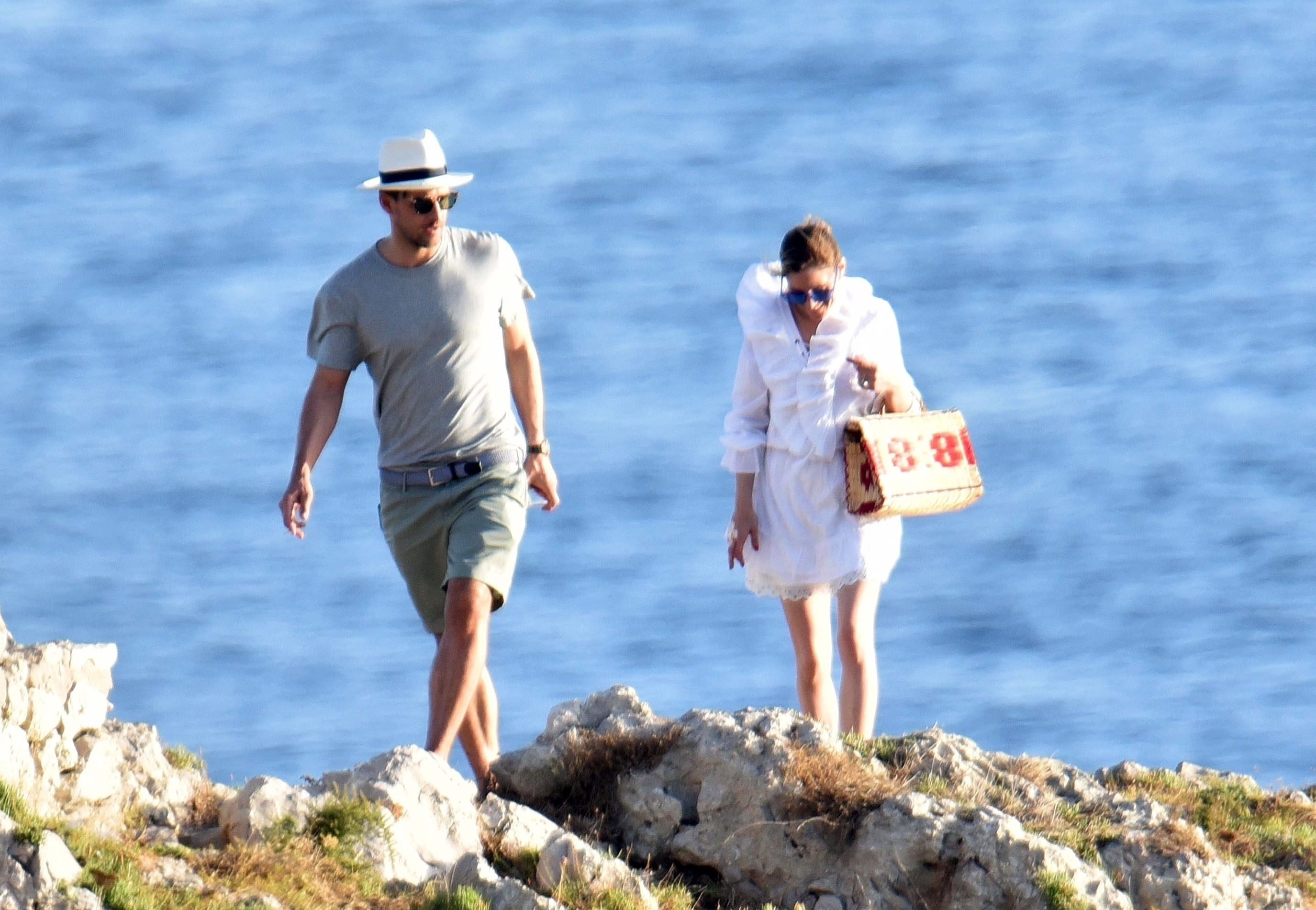 *EXCLUSIVE* ** RIGHTS: WORLDWIDE EXCEPT IN FRANCE, ITALY, SPAIN ** Italy, ITALY  - American socialite Olivia Palermo and husband Johannes Huebl pictured taking in some sightseeing while on Holiday In Capri - Olivia's Husband Johannes Huebl is pictured having a cheeky grab of Olivia derriere as they took a selfie and shared a kiss together.  Pictured: Olivia Palermo and Johannes Huebl  BACKGRID UK 10 JULY 2017   UK: +44 208 344 2007 / uksales@backgrid.com  USA: +1 310 798 9111 / usasales@backgrid.com  *UK Clients - Pictures Containing Children Please Pixelate Face Prior To Publication*, Image: 341498700, License: Rights-managed, Restrictions: , Model Release: no, Credit line: Profimedia, Xposurephotos