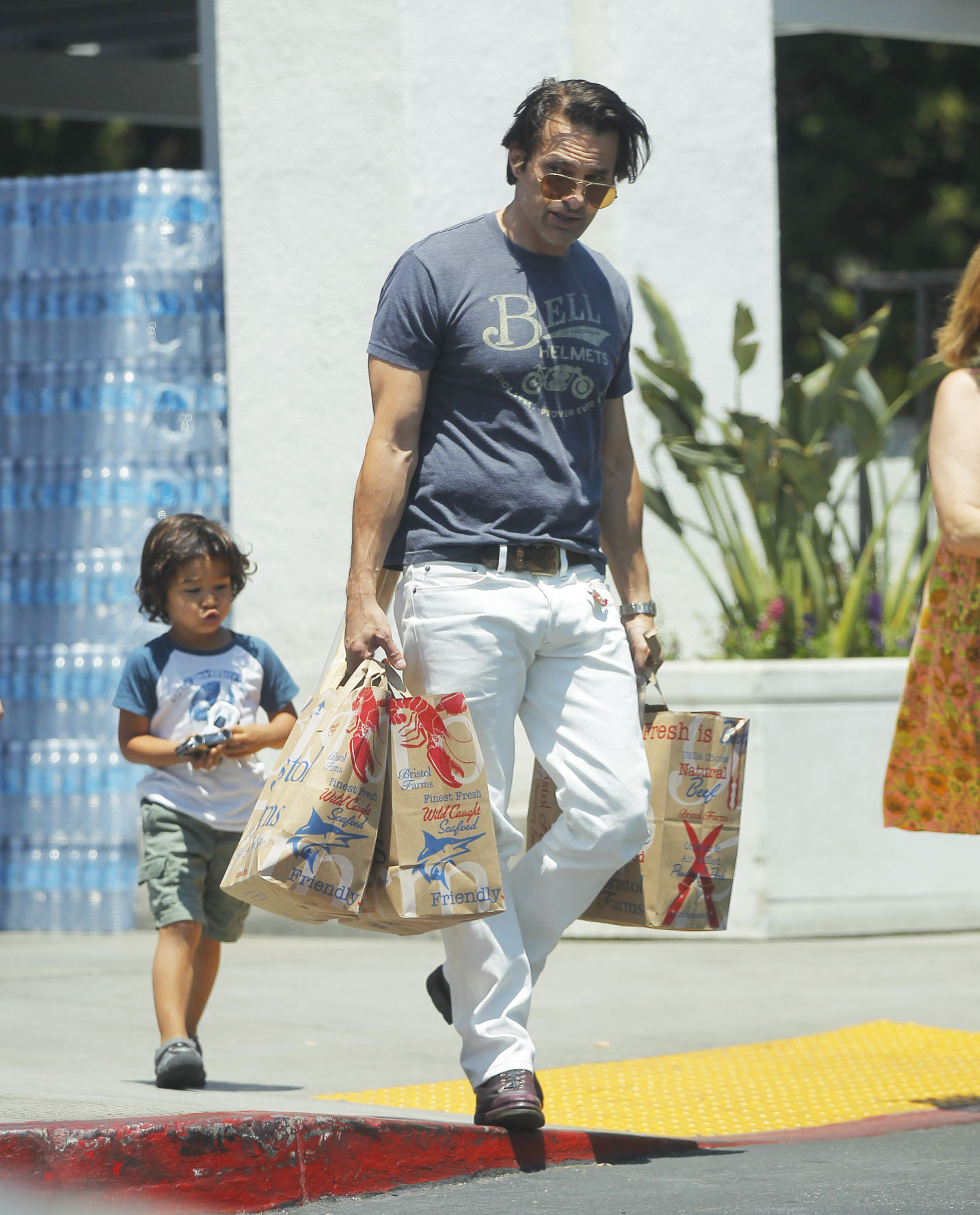 Olivier Martinez and son shopping for groceries in West Hollywood <P> Pictured: Olivier Martinez <B>Ref: SPL1538115  140717  </B><BR/> Picture by: Splash News<BR/> </P><P> <B>Splash News and Pictures</B><BR/> Los Angeles:310-821-2666<BR/> New York:212-619-2666<BR/> London:870-934-2666<BR/> <span id=