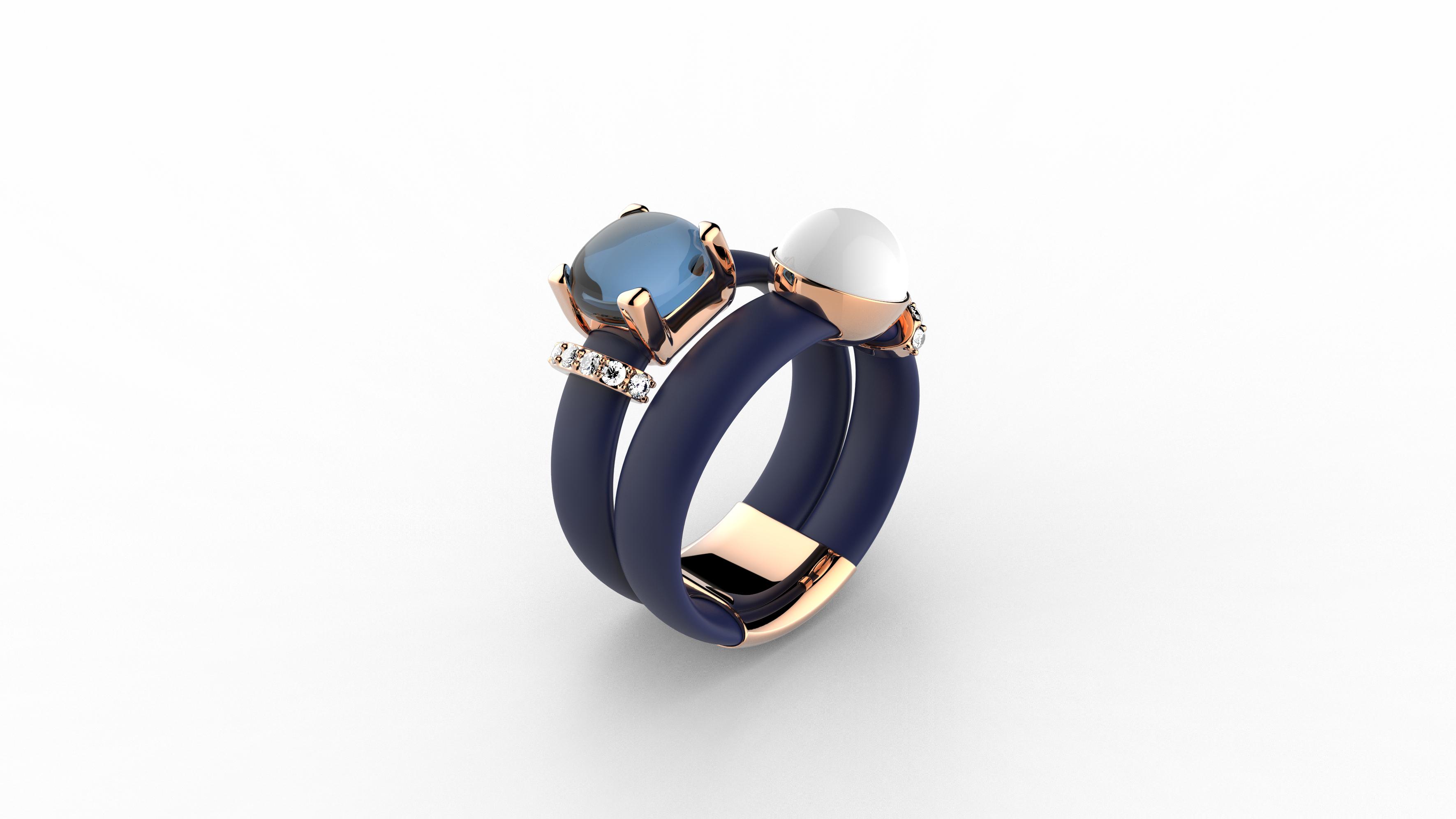 Zaks prsten sa srebrnim elementima, redovna cijena 740 kn; cijena s popustom 555 kn