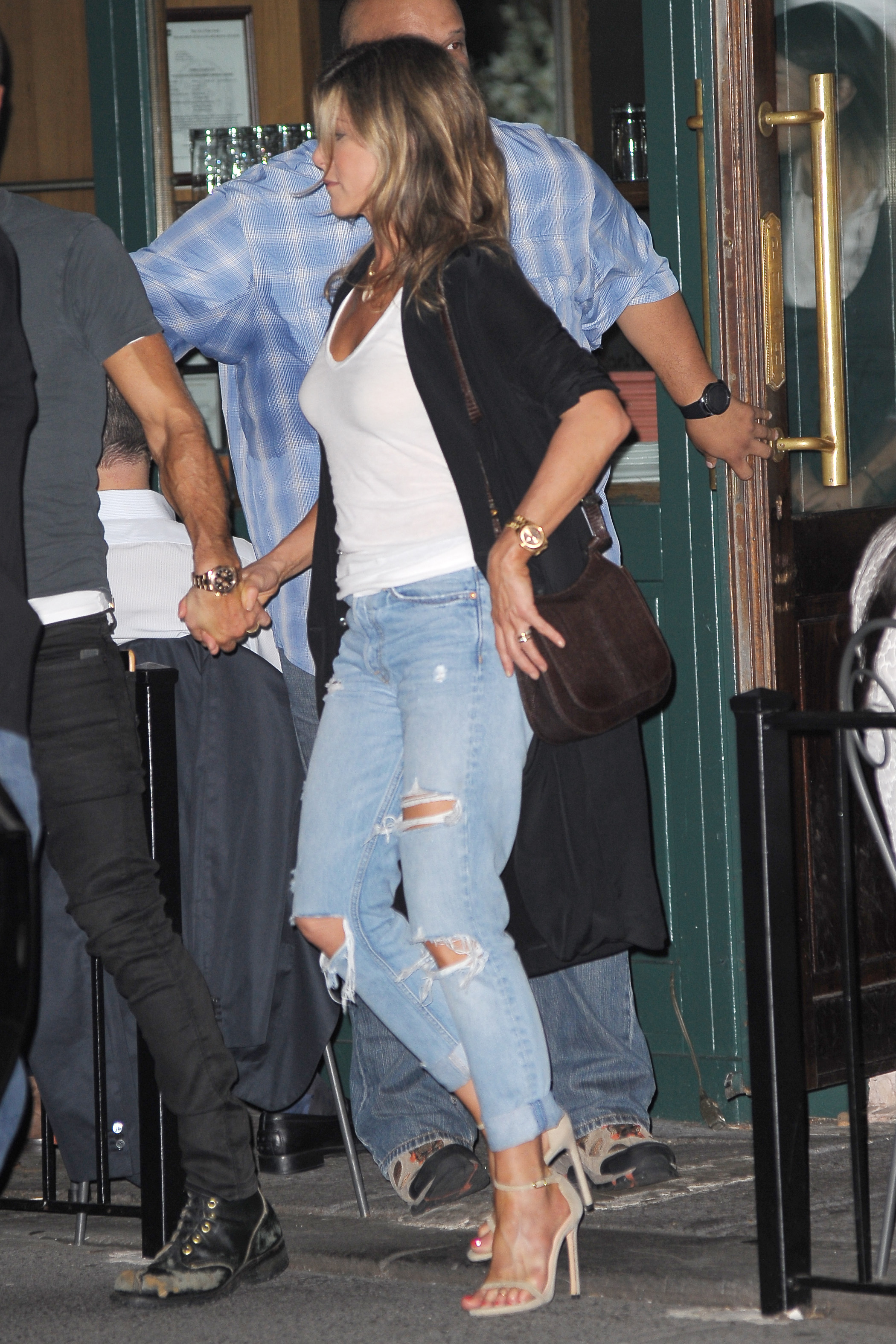 -New York, NY - 7/18/2017 - Jennifer Aniston and Justin Theroux Leaving Sant Ambroeus Restaurant in The West Village. Also there, Jason Bateman    -PICTURED: Jennifer Aniston and Justin Theroux -, Image: 342372270, License: Rights-managed, Restrictions: , Model Release: no, Credit line: Profimedia, INSTAR Images