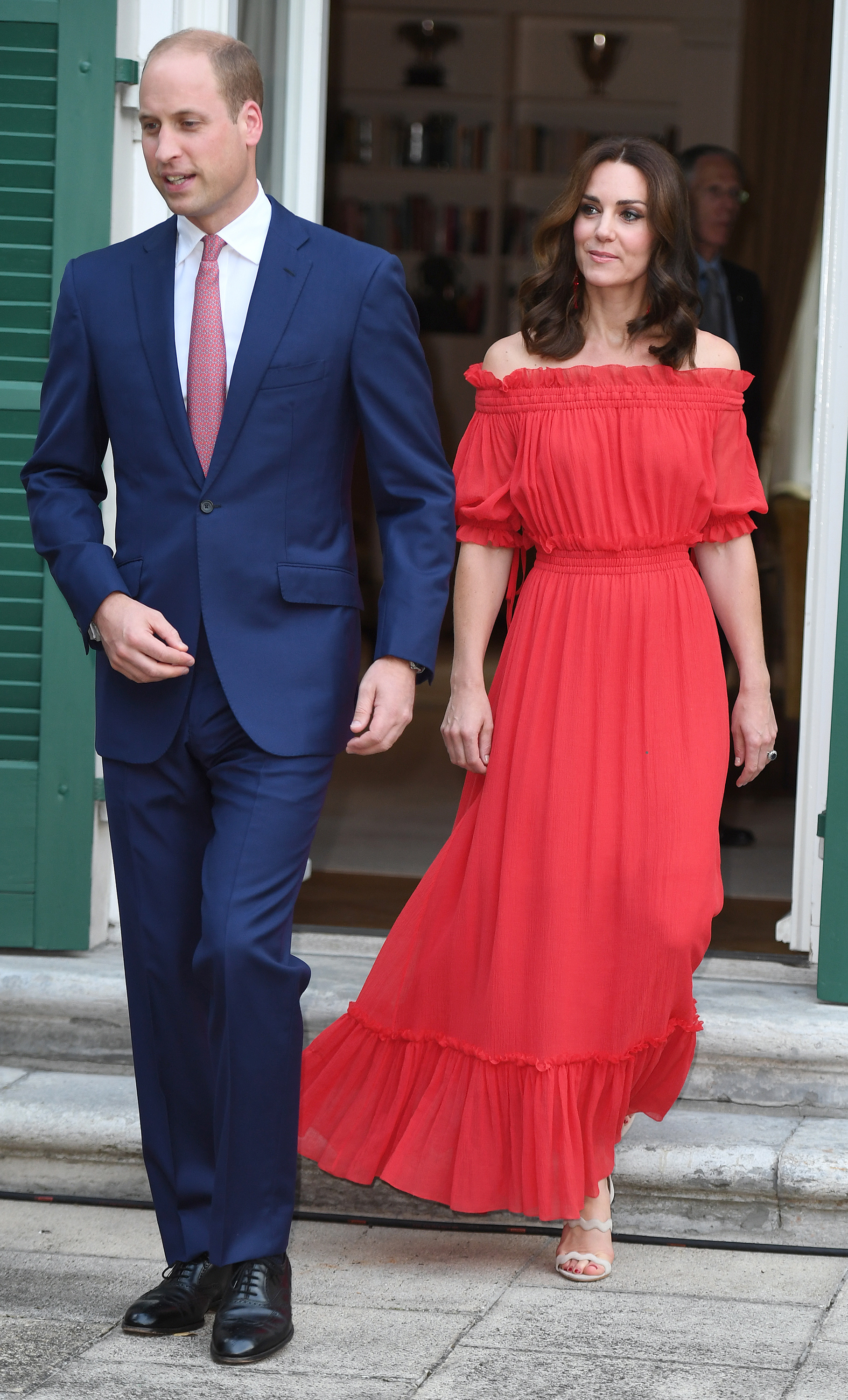Photo Credit Must Read Zak Hussein<BR/> Prince William, the Duke of Cambridge and Catherine, the Duchess of Cambridge attend The Queen's Birthday Party in Germany at the British Ambassadorial Residence in Berlin <P> Pictured: Prince William, the Duke of Cambridge and Catherine, the Duchess of Cambridge <B>Ref: SPL1541298  200717  </B><BR/> Picture by: Zak Hussein<BR/> </P><P>