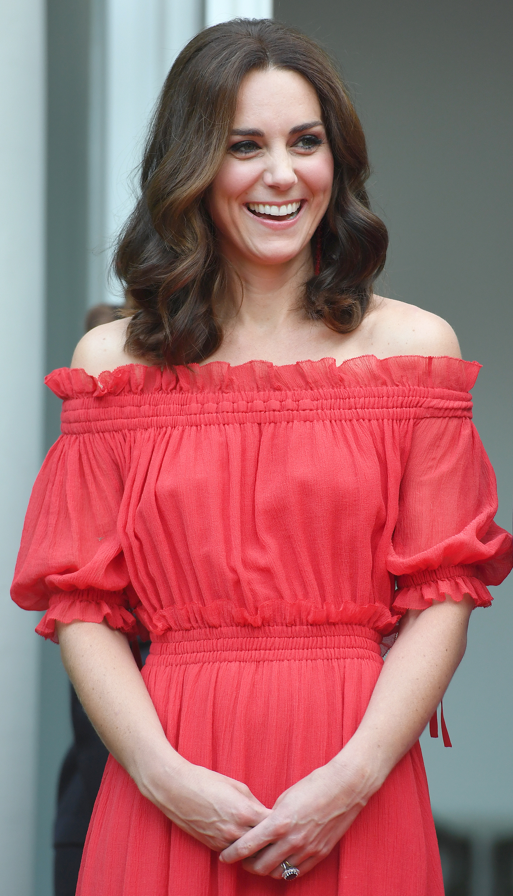 Photo Credit Must Read Zak Hussein<BR/> Prince William, the Duke of Cambridge and Catherine, the Duchess of Cambridge attend The Queen's Birthday Party in Germany at the British Ambassadorial Residence in Berlin <P> Pictured: Catherine, the Duchess of Cambridge <B>Ref: SPL1541298  200717  </B><BR/> Picture by: Zak Hussein<BR/> </P><P>