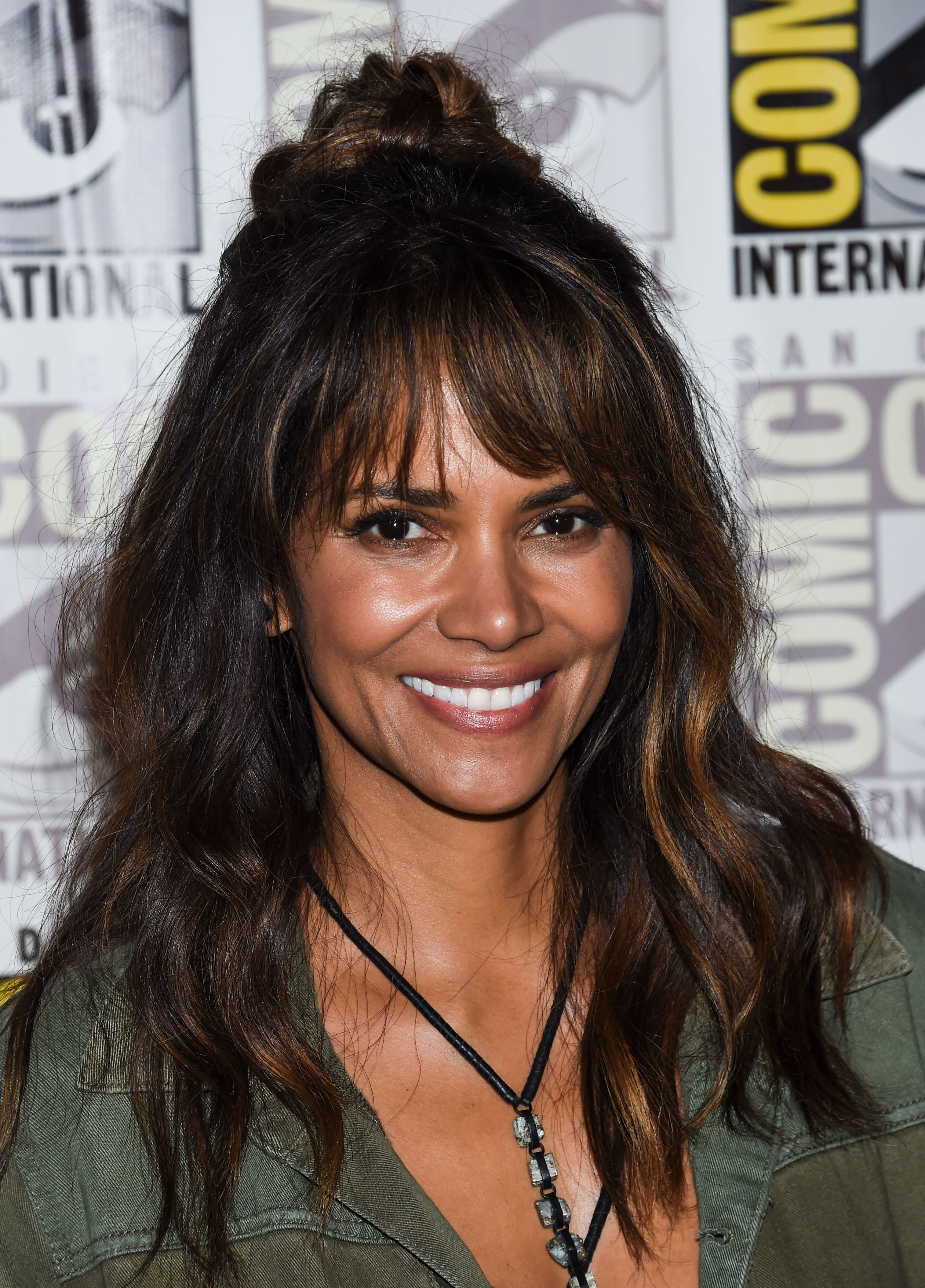 Celebrities arrive at 'Kingsman: The Golden Circle' Press Line during 2017 Comic-Con International on July 20, 2017 in San Diego, California, United States <P> Pictured: Halle Berry <B>Ref: SPL1542286  200717  </B><BR/> Picture by: Splash News<BR/> </P><P> <B>Splash News and Pictures</B><BR/> Los Angeles:310-821-2666<BR/> New York:212-619-2666<BR/> London:870-934-2666<BR/> <span id=