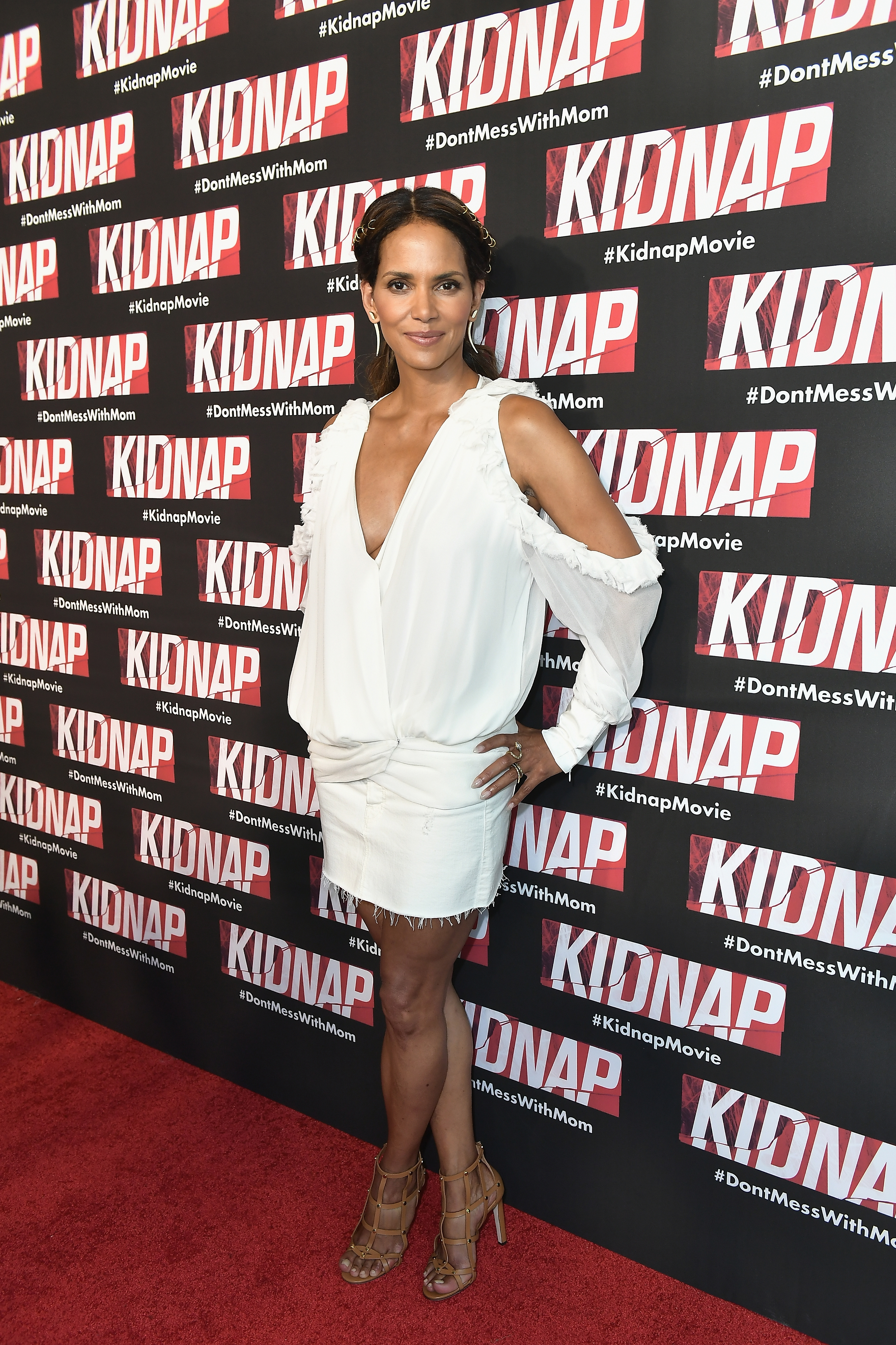 MIAMI, FL - JULY 24:  Halle Berry attends the red carpet movie KIDNAP on July 24, 2017 in Miami, Florida.  (Photo by Gustavo Caballero/Getty Images for Allied Integrated Marketing)