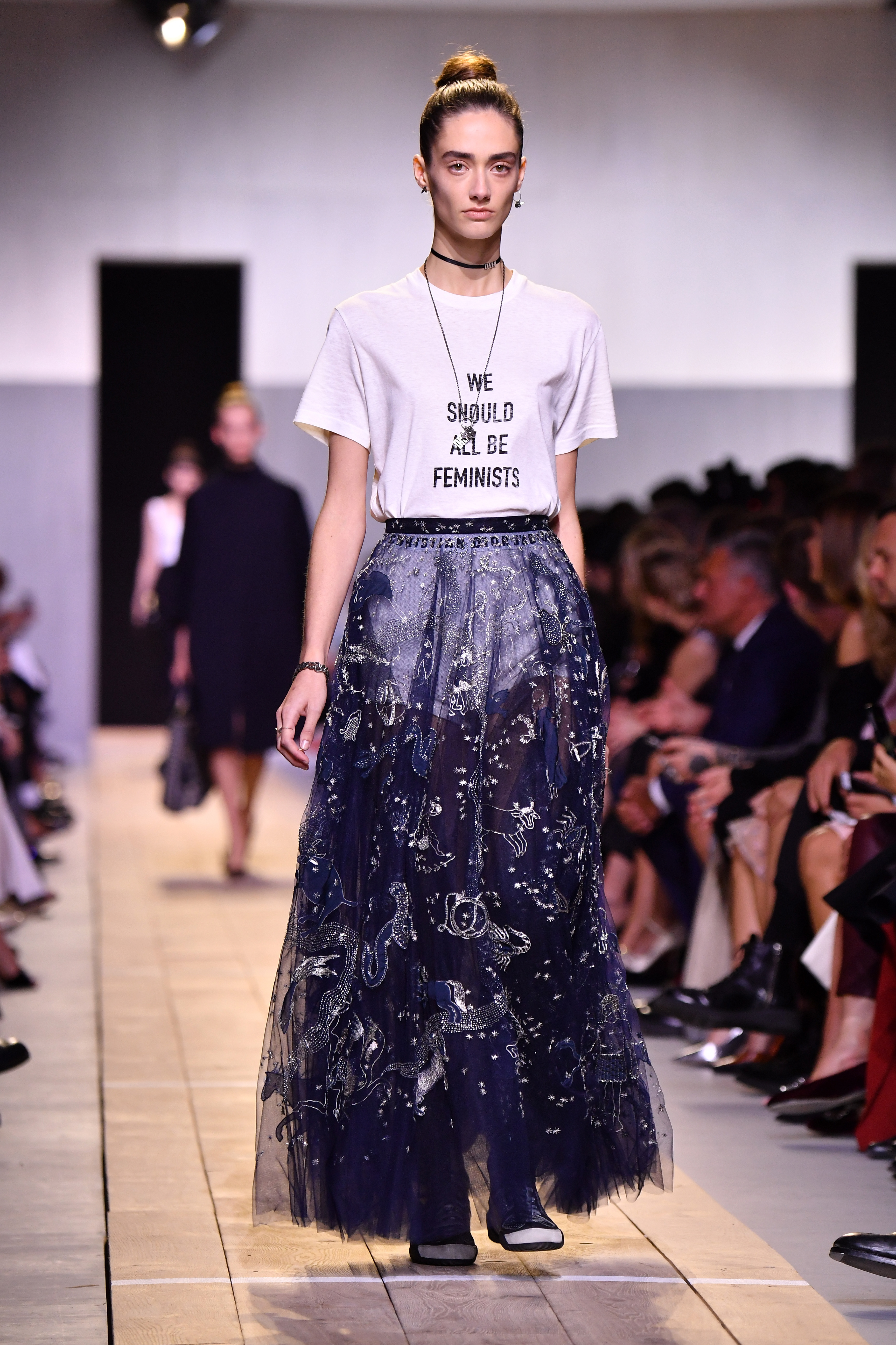 Bijela pamučna majica Christian Dior
