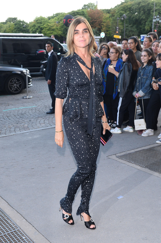 Celebrities attend the Miu Miu fashion show in Paris, France. <P> Pictured: Carine Roitfeld <B>Ref: SPL1531647  030717  </B><BR/> Picture by: @fotokibit/Splash News<BR/> </P><P> <B>Splash News and Pictures</B><BR/> Los Angeles:310-821-2666<BR/> New York:212-619-2666<BR/> London:870-934-2666<BR/> <span id=