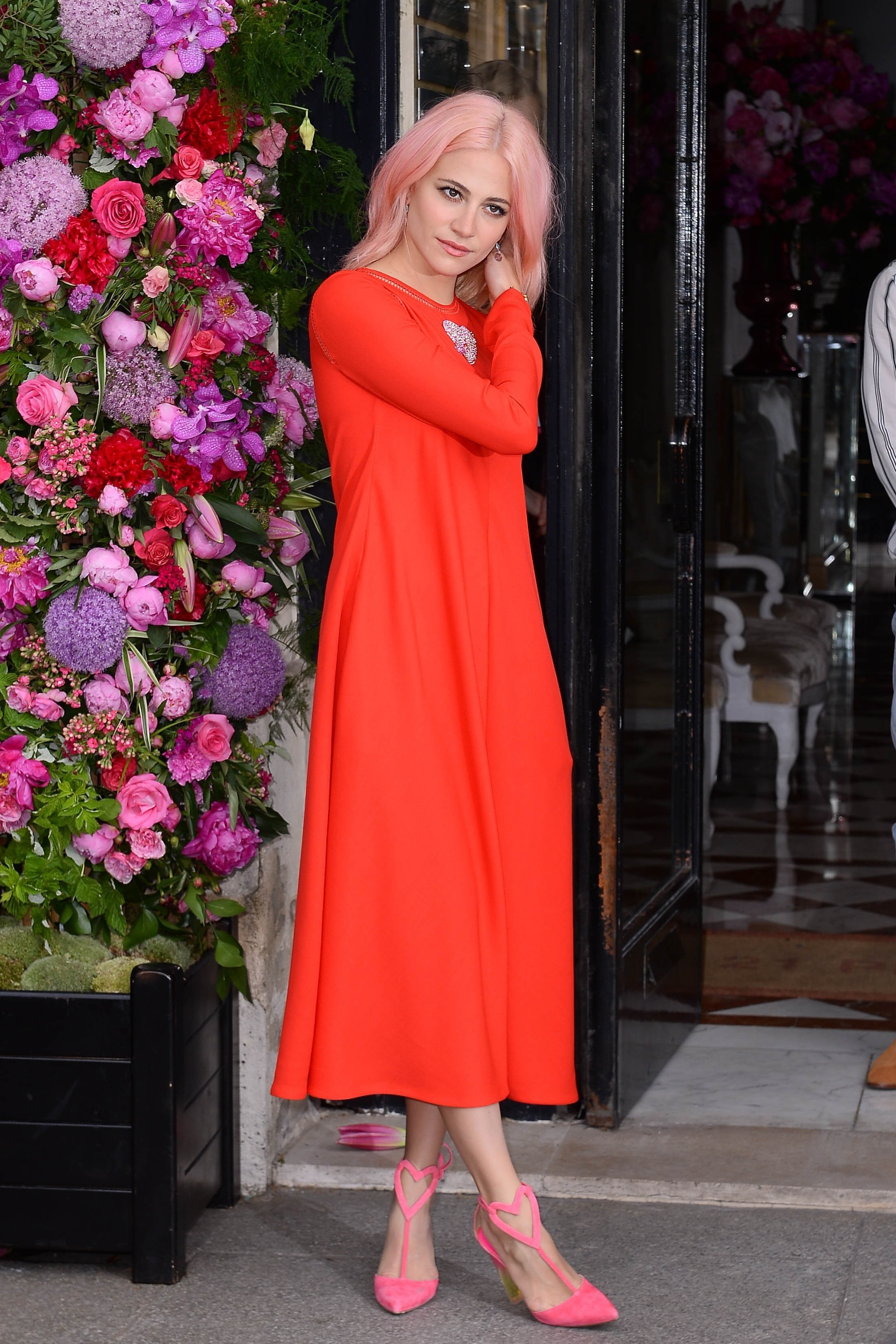 Celebrities are seen arriving at the Schiaparelli Fashion Show during Paris Fashion Week held in Paris, France. <P> Pictured: Pixie Lott <B>Ref: SPL1531901  030717  </B><BR/> Picture by: Splash News<BR/> </P><P> <B>Splash News and Pictures</B><BR/> Los Angeles:310-821-2666<BR/> New York:212-619-2666<BR/> London:870-934-2666<BR/> <span id=