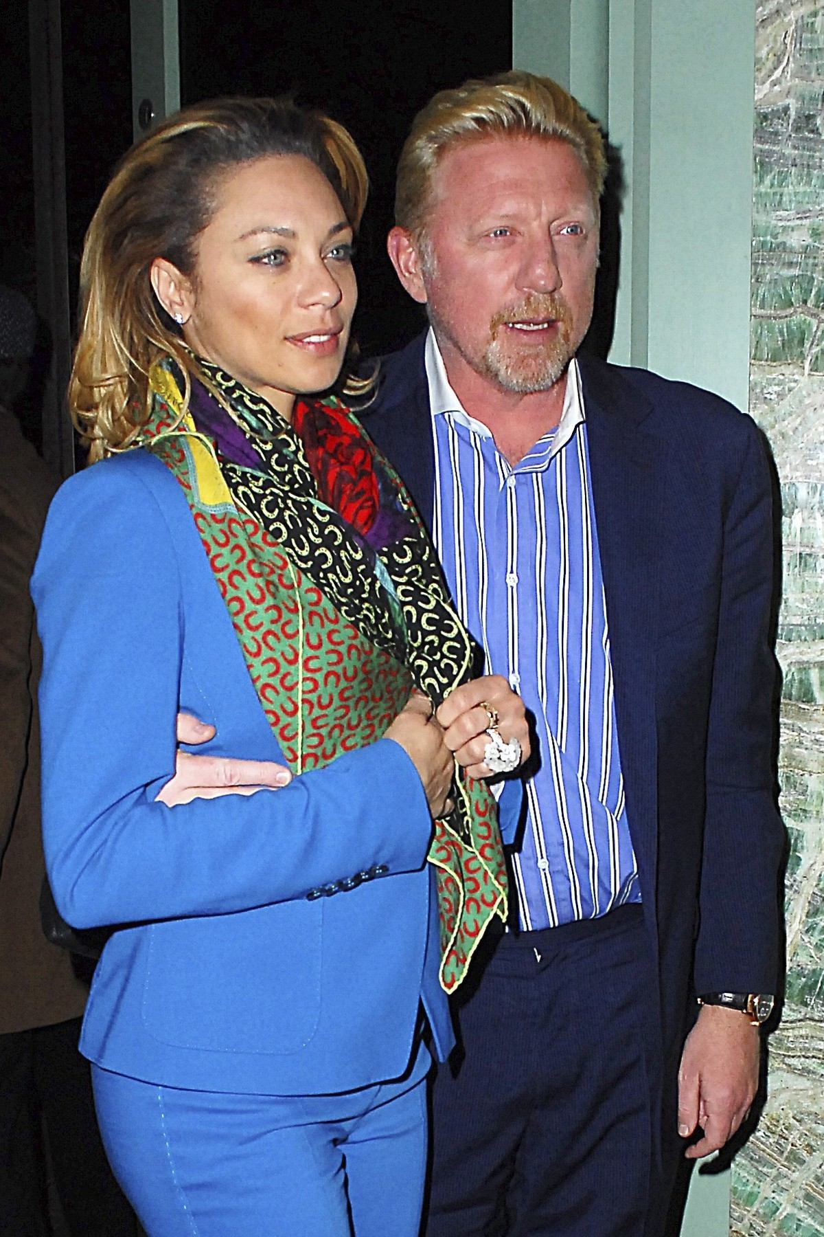 Picture Shows: Lily Becker, Boris Becker  April 27, 2016  Boris Becker and his wife Lily, were seen making their way out of Sexy Fish in London, England. The pair looked sharp for their night out.   WORLDWIDE RIGHTS, Image: 282712200, License: Rights-managed, Restrictions: Non Exclusive No Digital Rights Without Permission Please Credit All Uses, Model Release: no, Credit line: Profimedia, FameFlynet UK