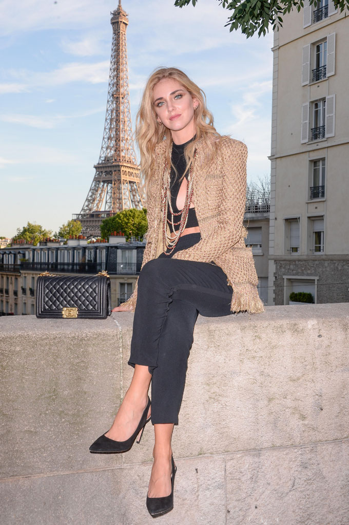 Chiara Ferragni arriving at the Chanel new perfume release party during Paris Fashion Week Haute Couture Collection Fall/Winter 2017-2018 in Paris, France on July 4, 2017., Image: 340866382, License: Rights-managed, Restrictions: , Model Release: no, Credit line: Profimedia, Abaca