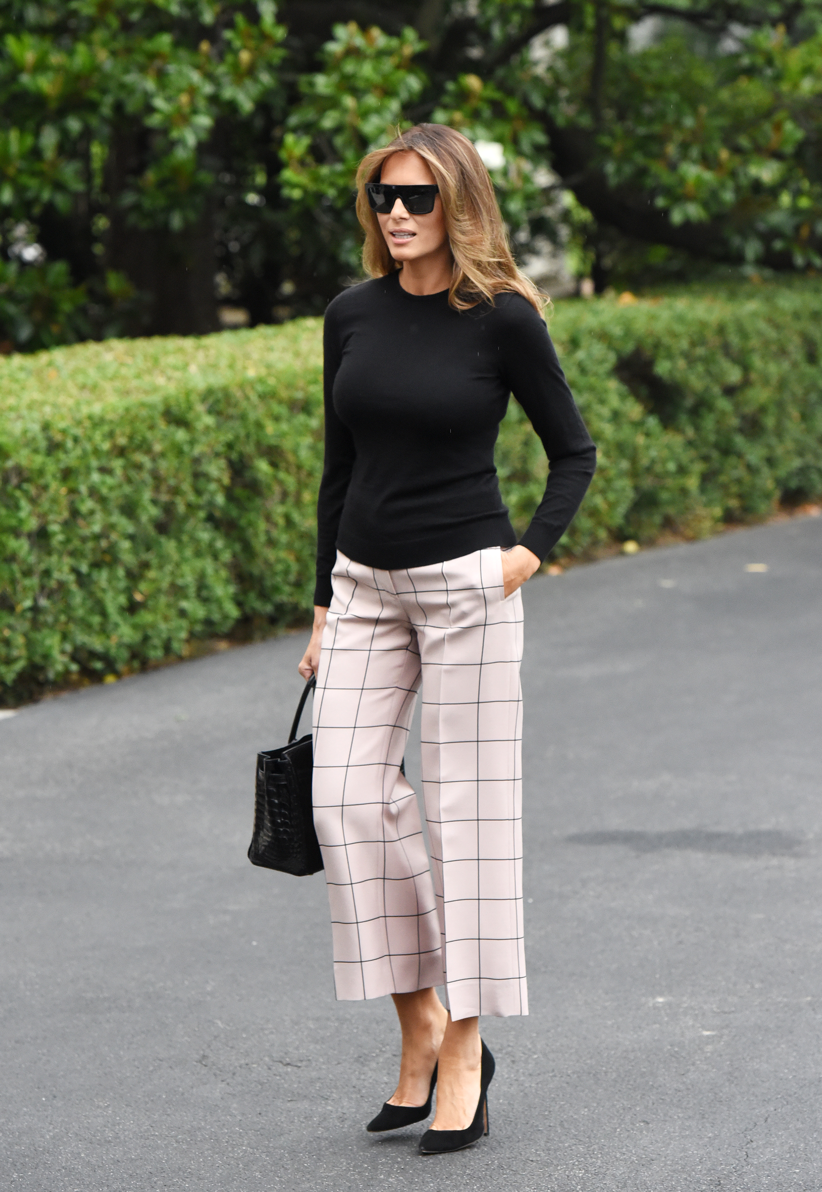 First Lady Melania Trump departs the White House in Washington, DC, on July 5, 2017., Image: 340925383, License: Rights-managed, Restrictions: *** World Rights ***, Model Release: no, Credit line: Profimedia, SIPA USA