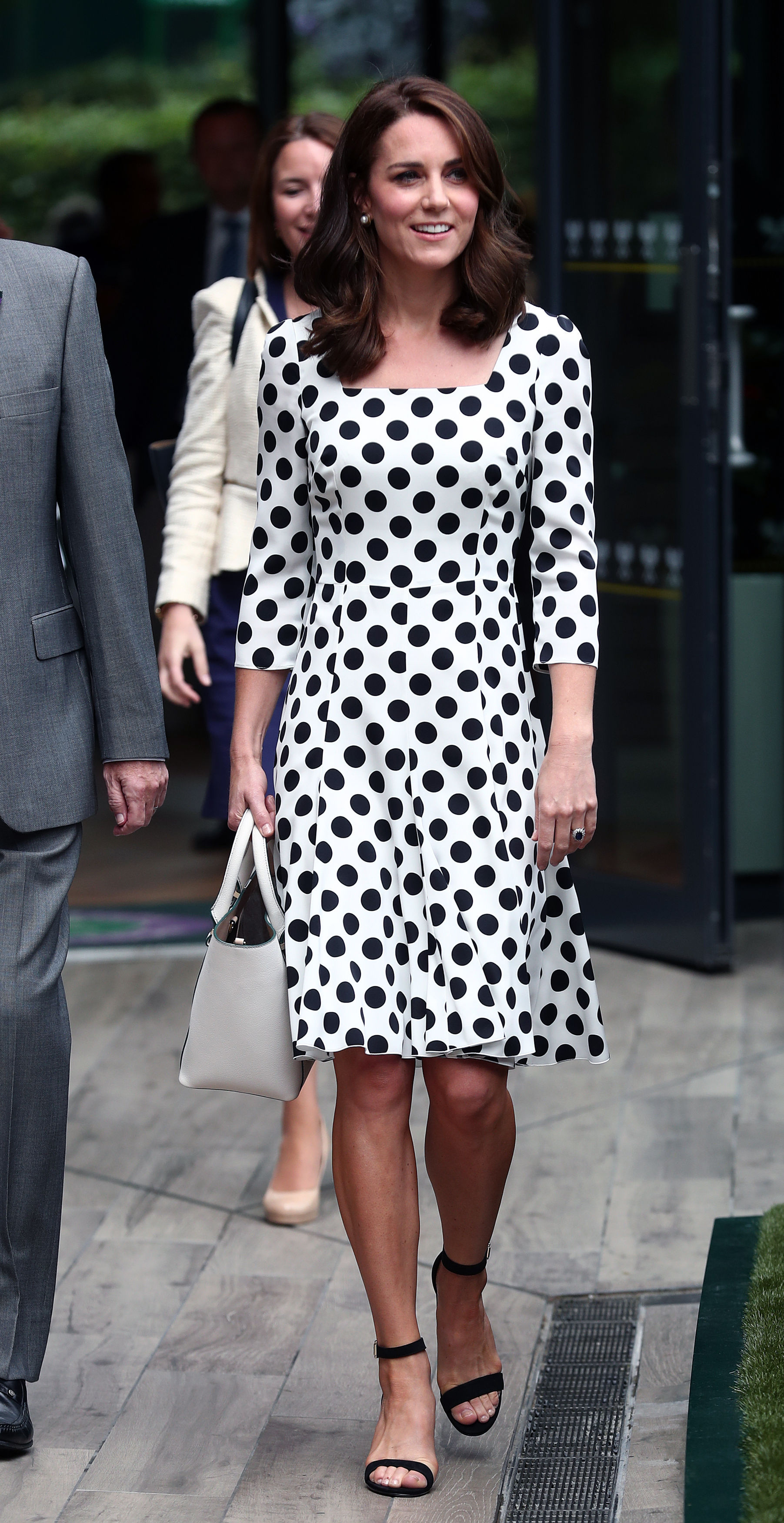 3 July 2017.  The Duchess of Cambridge, Patron of the All England Lawn Tennis and Croquet Club (AELTC) on day one of the Wimbledon Championships at The All England Lawn Tennis and Croquet Club, Wimbledon. RESTRICTIONS: Editorial use only. No commercial use without prior written consent of the AELTC. Still image use only - no moving images to emulate broadcast. No superimposing or removal of sponsor/ad logos., Image: 340353962, License: Rights-managed, Restrictions: **No UK Sales Until 28 Days After Create Date**  **Editorial Use Only**, Model Release: no, Credit line: Profimedia, Goff Photos