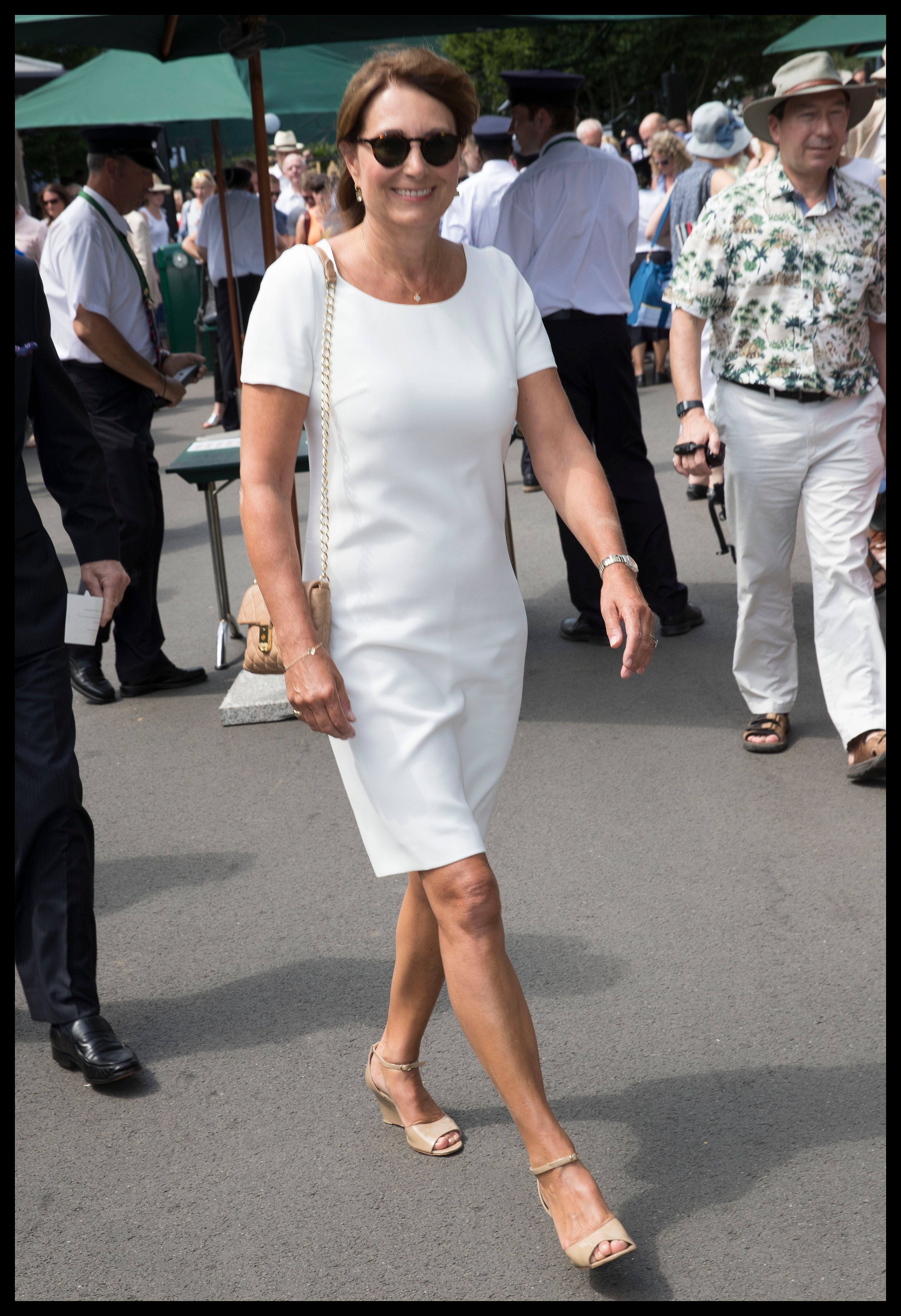 July 6, 2017 - London, London, United Kingdom - Image licensed to i-Images Picture Agency. 06/07/2017. London, United Kingdom. Carole Middleton arriving on day four of the Wimbledon Tennis Championships in London. Picture by Stephen Lock / i-Images, Image: 341021892, License: Rights-managed, Restrictions: * China, France, Italy, Spain, Taiwan and UK Rights OUT *, Model Release: no, Credit line: Profimedia, Zuma Press - Entertaiment