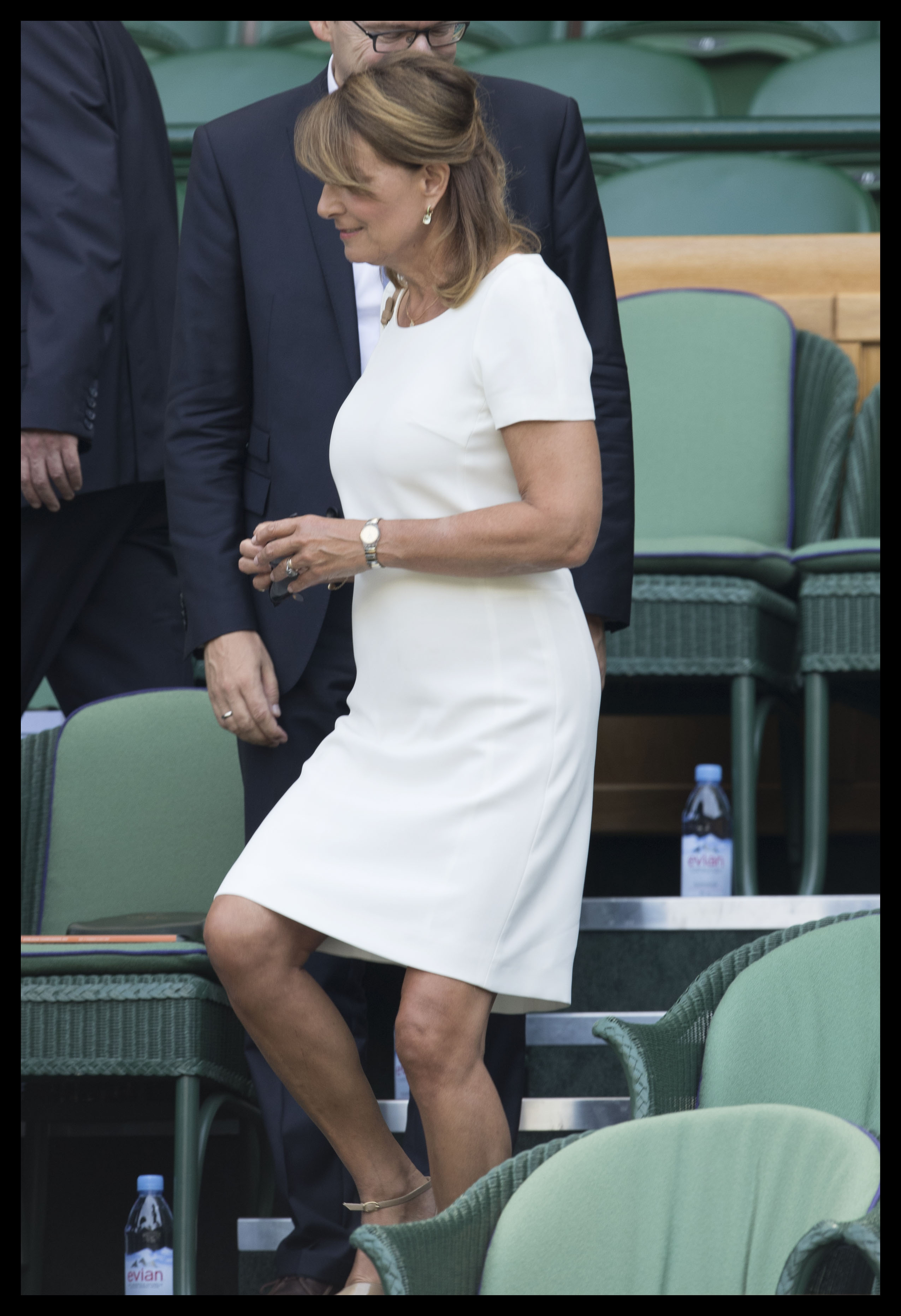 167256, Carole Middleton, the mother of the Duchess of Cambridge and Pippa Middleton, spectates from the Royal box on day four of the Wimbledon Tennis Championships. London, United Kingdom - Thursday July 6, 2017. UK, FRANCE, AUS, NZ, CHINA, HONG KONG, TAIWAN, SPAIN & ITALY OUT, Image: 341089256, License: Rights-managed, Restrictions: RESTRICTIONS APPLY, Model Release: no, Credit line: Profimedia, Pacific coast news