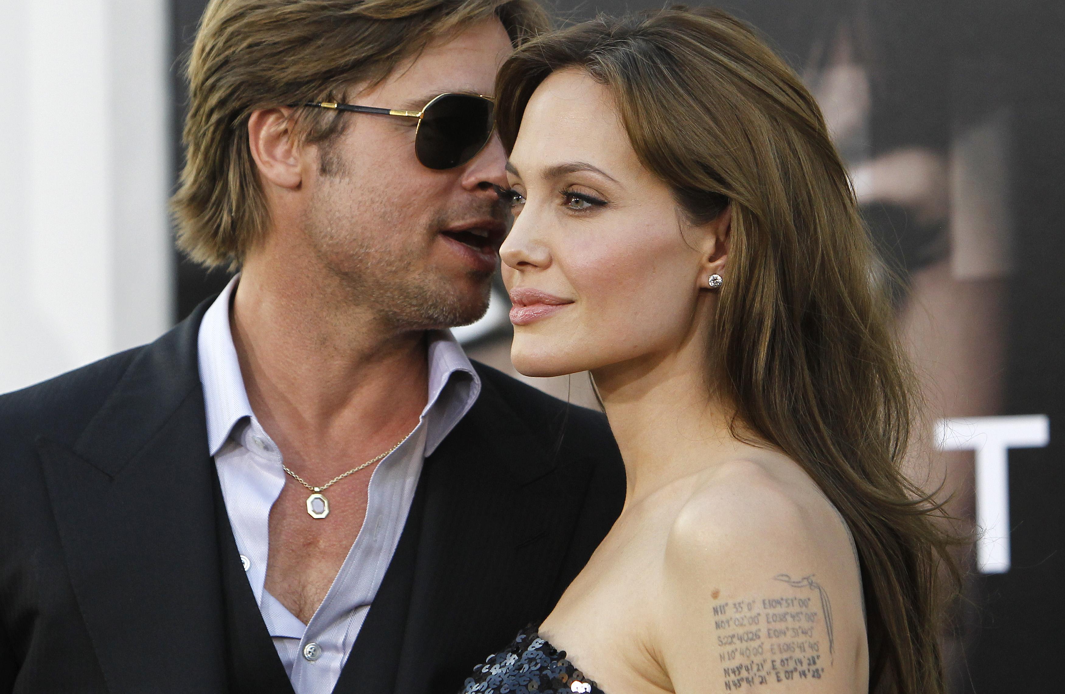 Angelina Jolie i Brad Pitt 2010.