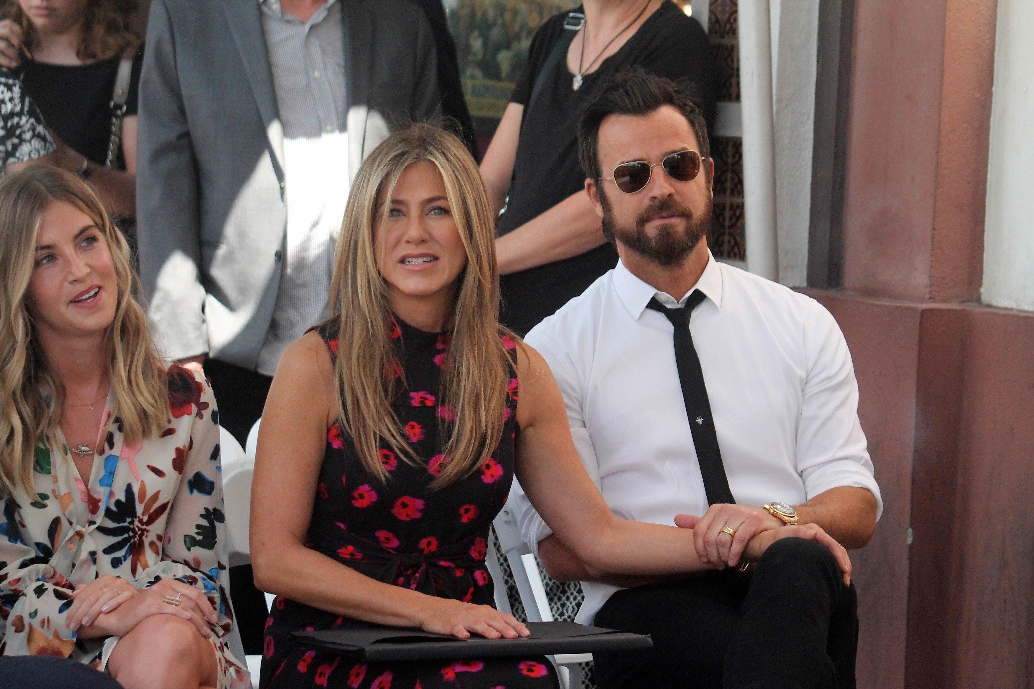 S Justinom Therouxom na dodjeli zvijezde Jasonu Batemanu na Stazi slavnih u srpnju prošle godine
