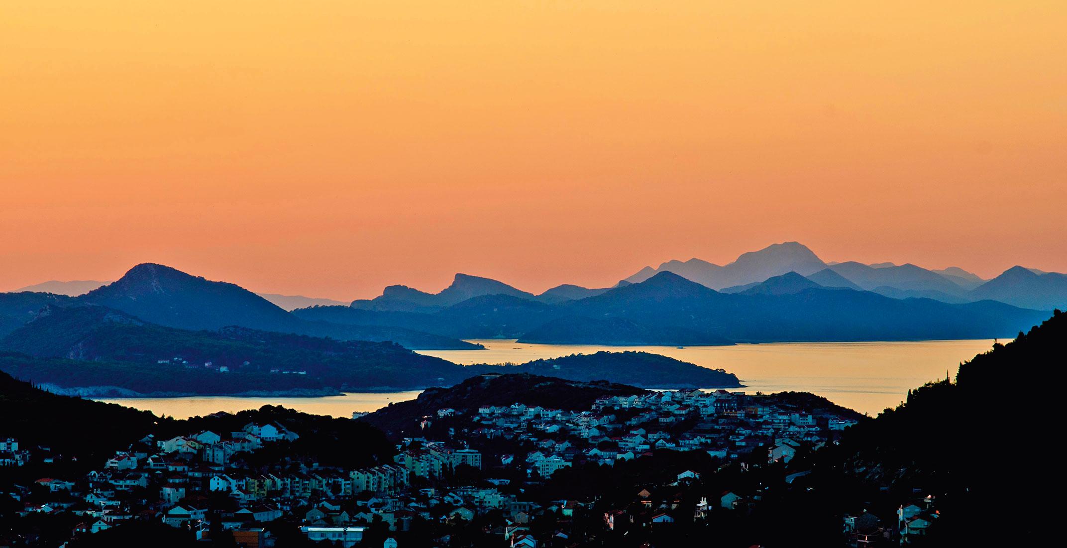 Pogled iz Dubrovnika prema Elafitima