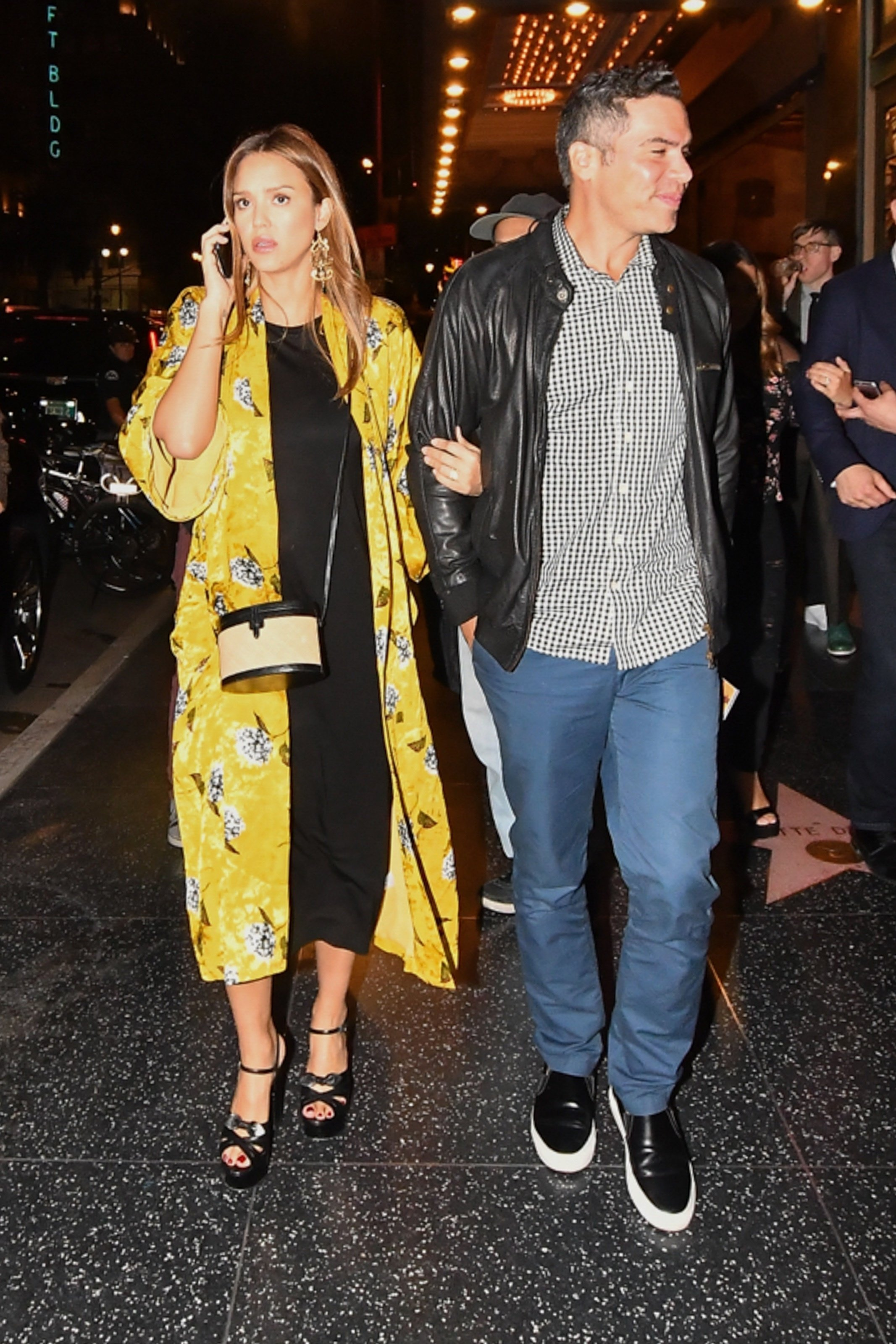 Hollywood, CA  - Jessica Alba and Cash Warren go to see 'Hamilton's' opening night the Pantages Theatre where many other stars attended.  Pictured: Jessica Alba, Cash Warren  BACKGRID USA 16 AUGUST 2017, Image: 345425243, License: Rights-managed, Restrictions: , Model Release: no, Credit line: Profimedia, AKM-GSI