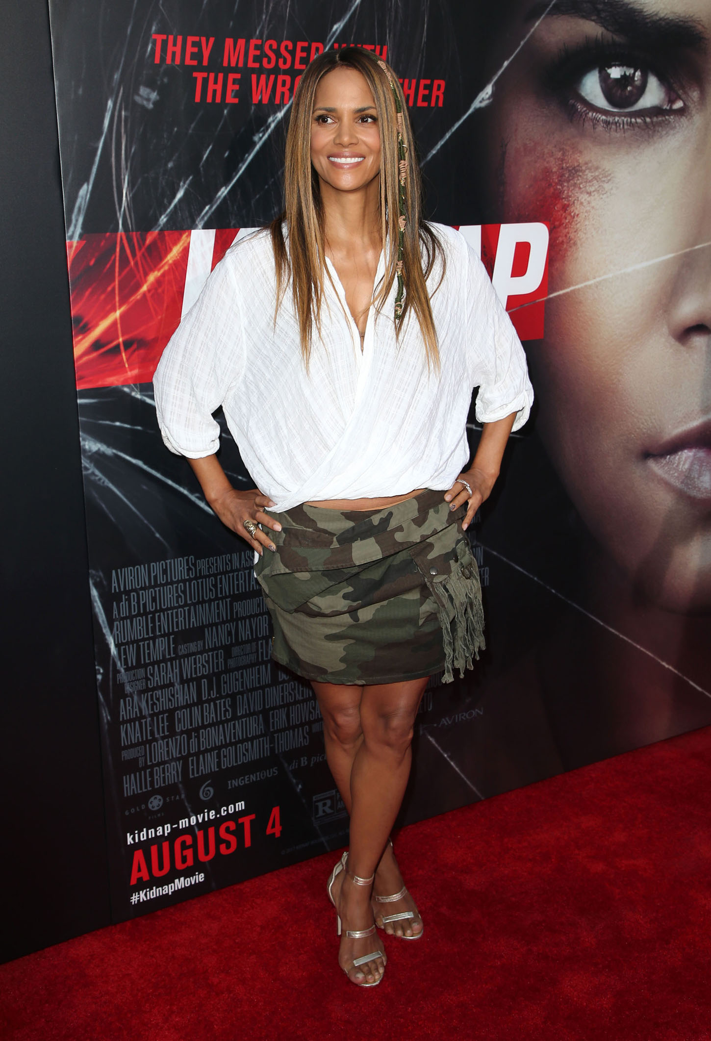 Stars attend the 'Kidnap' Premiere in Los Angeles, California. <P> Pictured: Halle Berry <B>Ref: SPL1548607  310717  </B><BR/> Picture by: AdMedia / Splash News<BR/> </P><P> <B>Splash News and Pictures</B><BR/> Los Angeles:310-821-2666<BR/> New York:212-619-2666<BR/> London:870-934-2666<BR/> <span id=