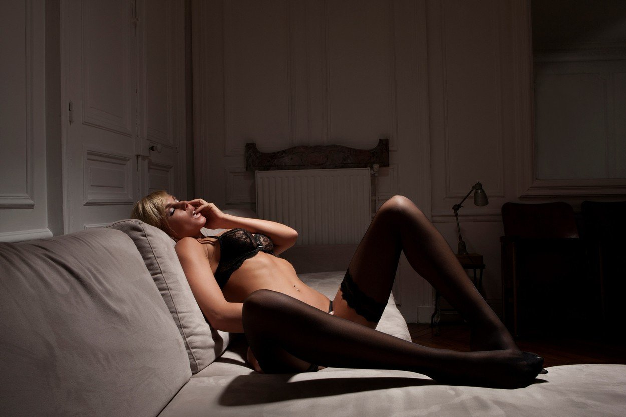 Woman in lingerie laying on sofa, Image: 295430495, License: Royalty-free, Restrictions: Specifically, you may not use the Images in ways or contexts that might reasonably be construed as pornographic, defamatory, libellous or otherwise unlawful; Specifically, you may not use images depicting any model in any unduly controversial or unflattering context, unless accompanied with a statement indicating that the person is a model and the images are being used for illustrative purposes only., Model Release: no, Credit line: Profimedia, Cultura RF