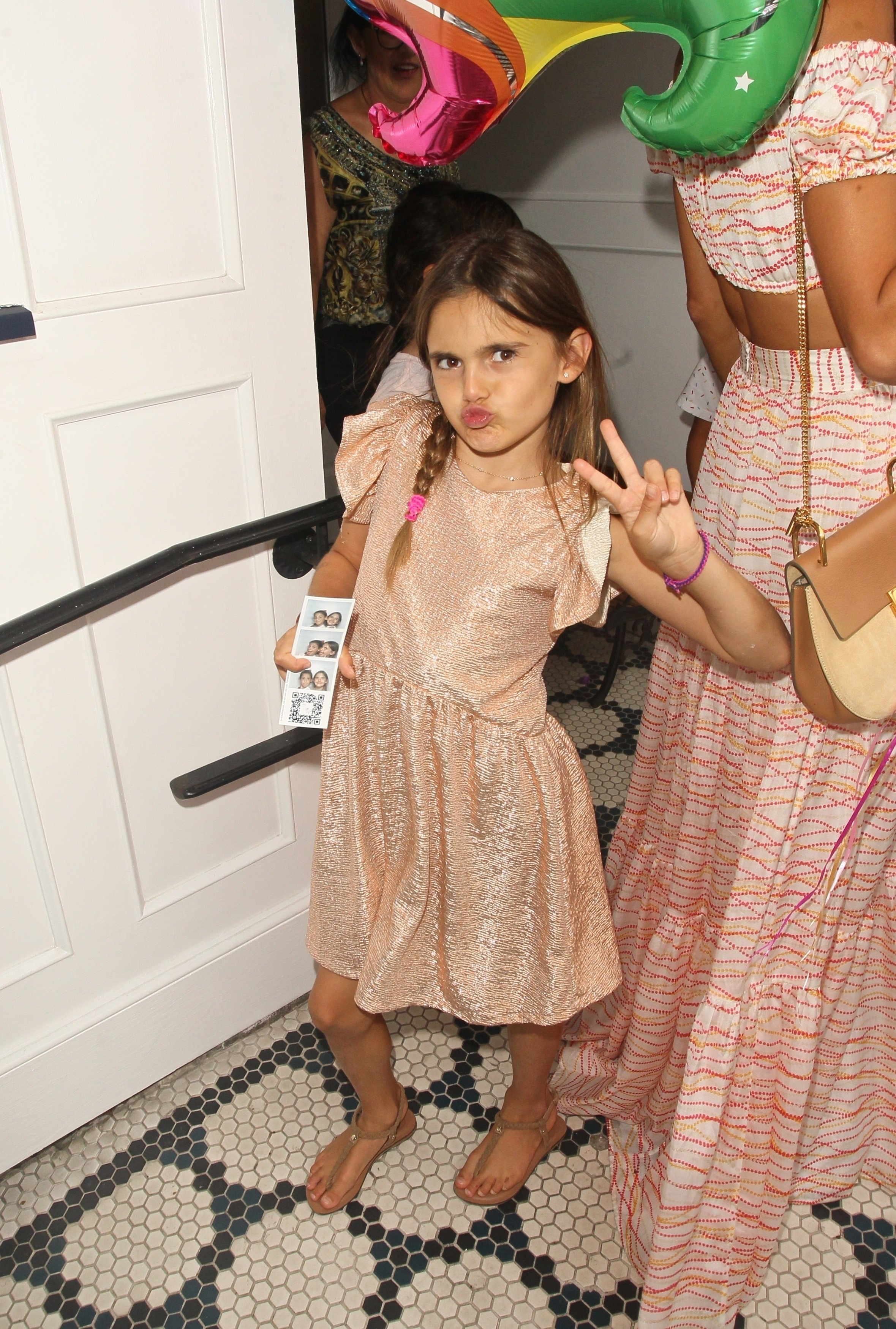 West Hollywood, CA  - Alessandra Ambrosio and Anja arrive at Au Fudge for her 9th birthday party. Alessandra looks great as she shows off the tanned and toned skin while walking with her birthday girl.  Pictured: Alessandra Ambrosio  BACKGRID USA 24 AUGUST 2017   USA: +1 310 798 9111 / usasales@backgrid.com  UK: +44 208 344 2007 / uksales@backgrid.com  *UK Clients - Pictures Containing Children Please Pixelate Face Prior To Publication*, Image: 346406695, License: Rights-managed, Restrictions: , Model Release: no, Credit line: Profimedia, AKM-GSI