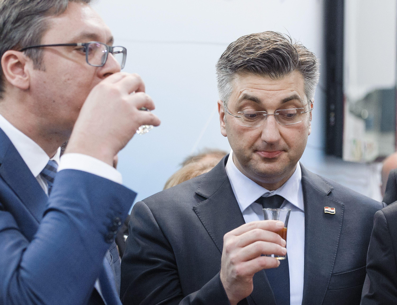 Aleksandar Vučić i Andrej Plenković