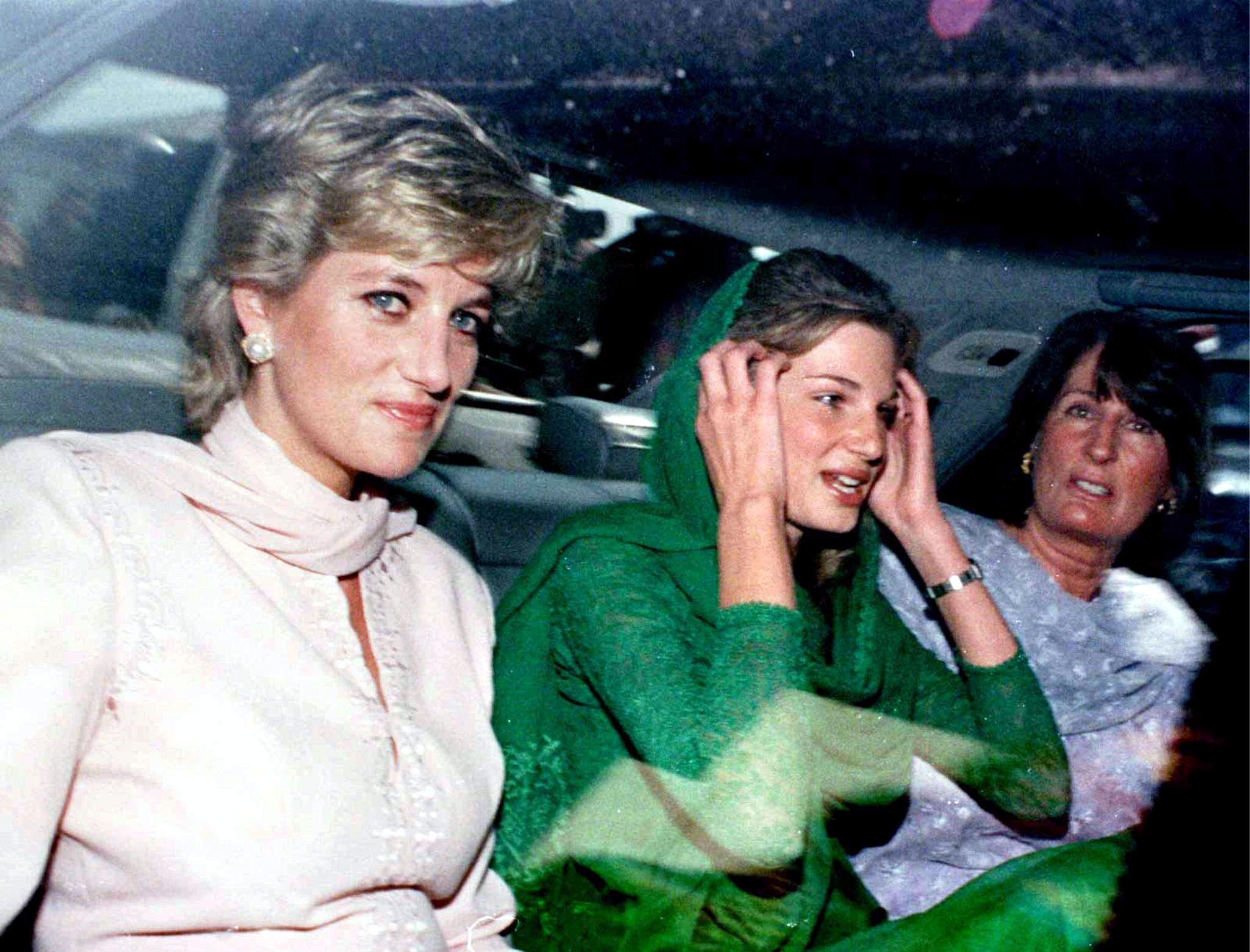 Lady Diana Spencer, Jemmina Khan i Lady Annabel Goldsmith