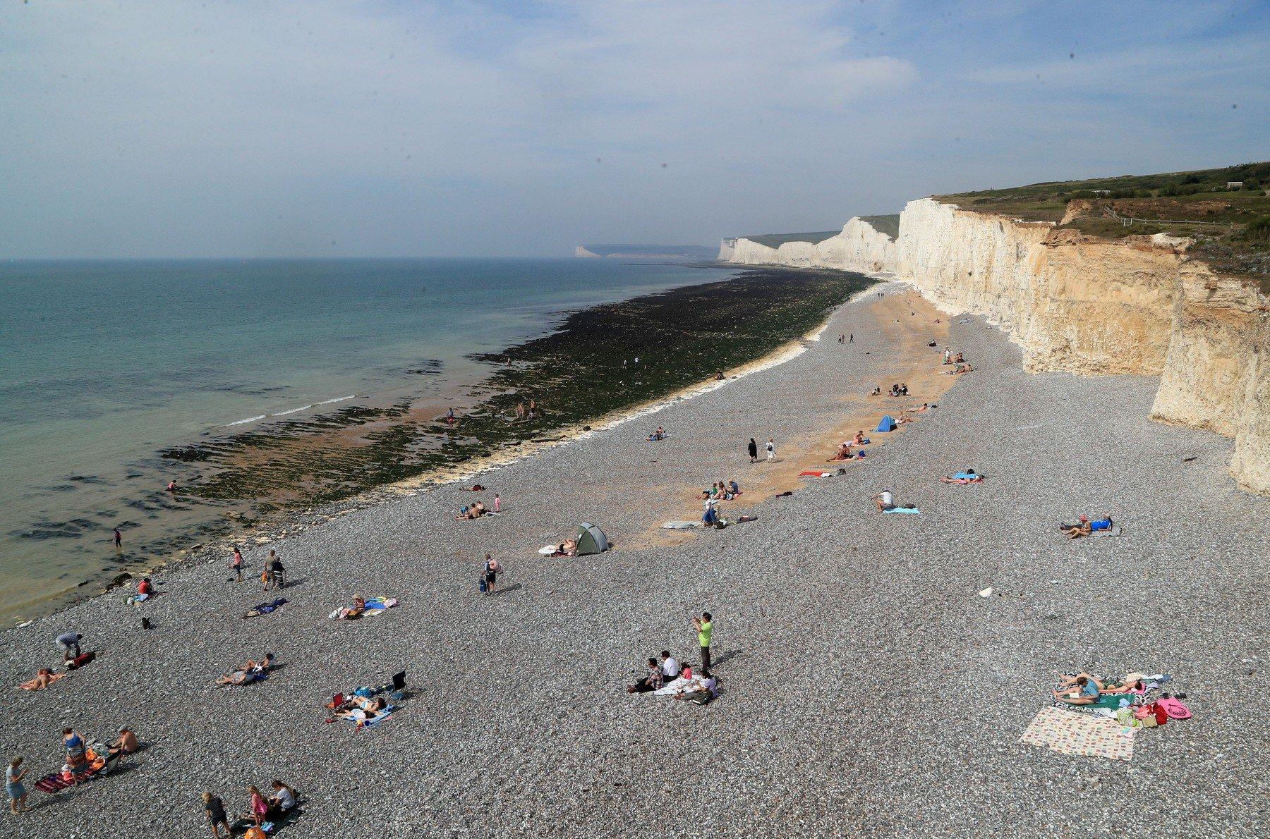 Plaža Birling Gap pokraj Eastbournea u Istočnom Sussexu