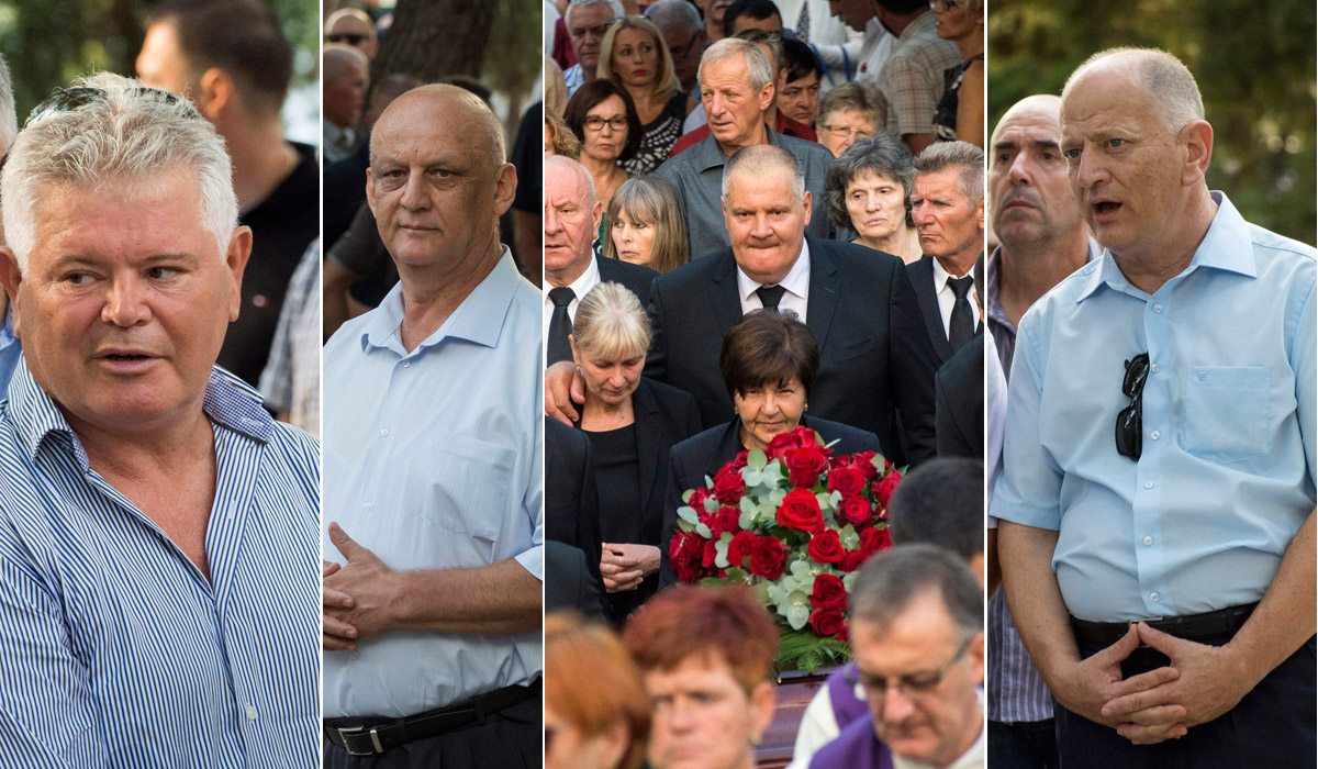 S lijeva na desno: Andro Vlahušić, Ljubo Ćesić Rojs, Stipe Gabrić Jambo, Nikica Gabrić