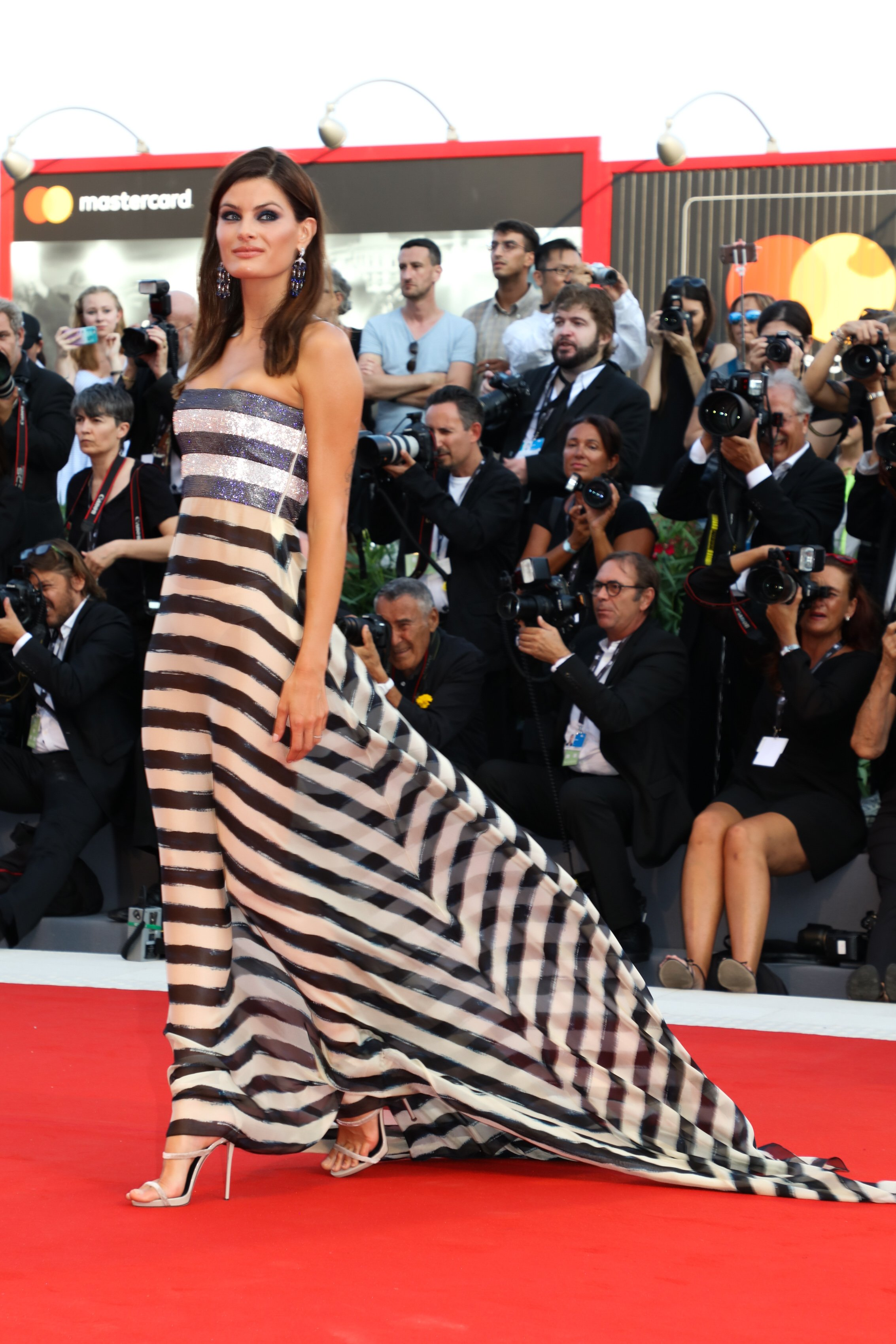 Brazilian model Isabeli Fontana attends Opening Ceremony and 'Downsizing ' premier at the 74th Venice Film Festival on 30th August, 2017, Venice, Italy, Image: 347777193, License: Rights-managed, Restrictions: , Model Release: no, Credit line: Profimedia, KCS Presse