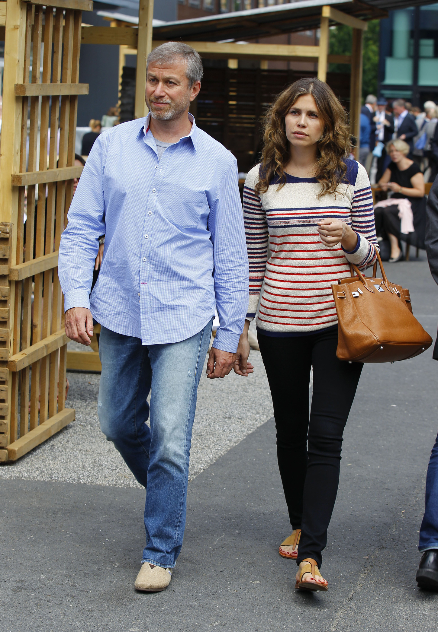 Art Basel 2013, the most important Art Trade Fair in the World with Celebrities: Russian Billionaire  Roman Abramowitsch with girlfriend Daria Zhukova, Image: 199886679, License: Rights-managed, Restrictions: *** Germany and Austria Out ***, Model Release: no, Credit line: Profimedia, SIPA USA
