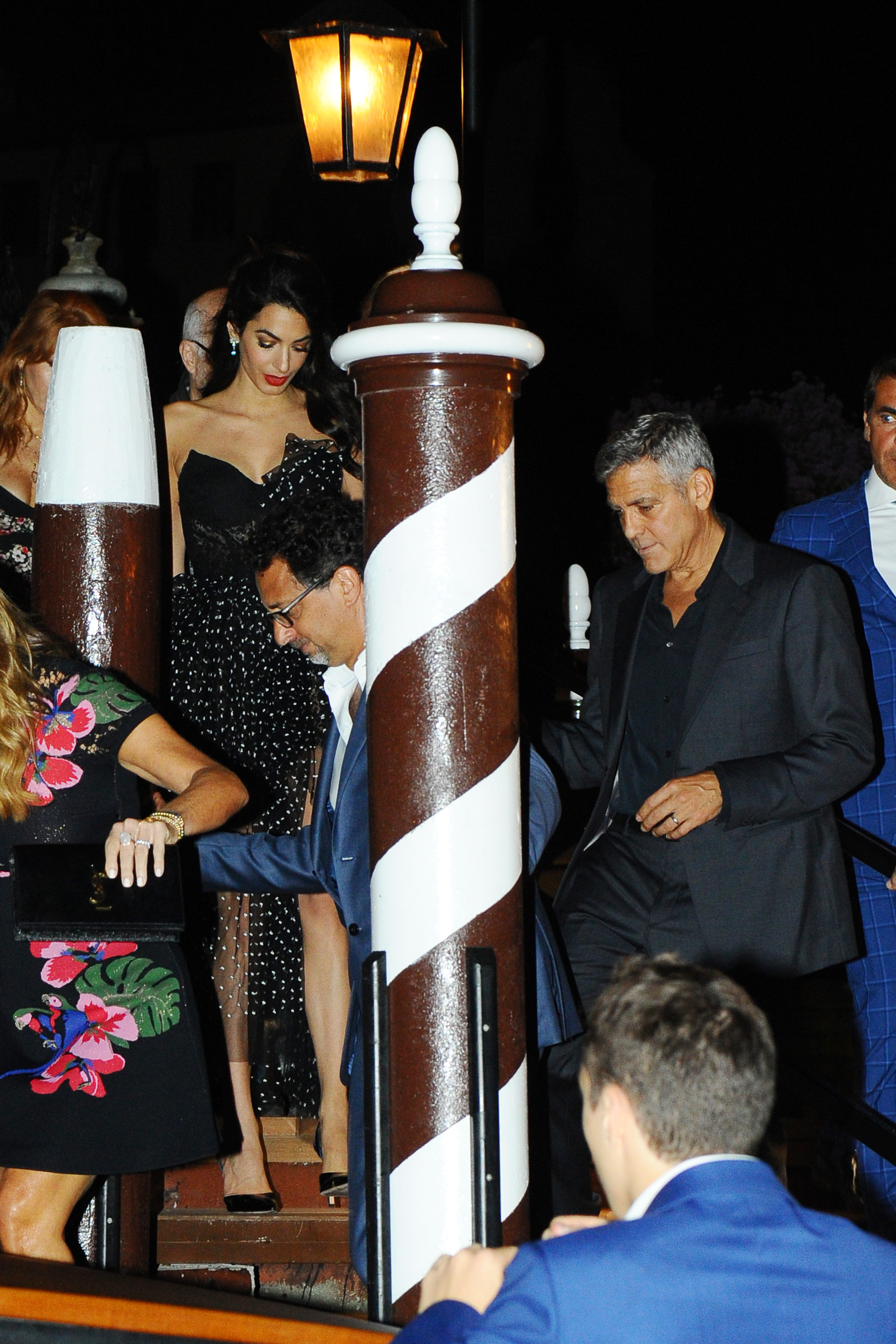 George Clooney and Amal Alamuddin are seen leaving their hotel on August 31, 2017 in Venice, Italy. <P> Pictured: George Clooney and Amal Alamuddin <B>Ref: SPL1566353  310817  </B><BR/> Picture by: Splash News<BR/> </P><P> <B>Splash News and Pictures</B><BR/> Los Angeles:310-821-2666<BR/> New York:212-619-2666<BR/> London:870-934-2666<BR/> <span id=