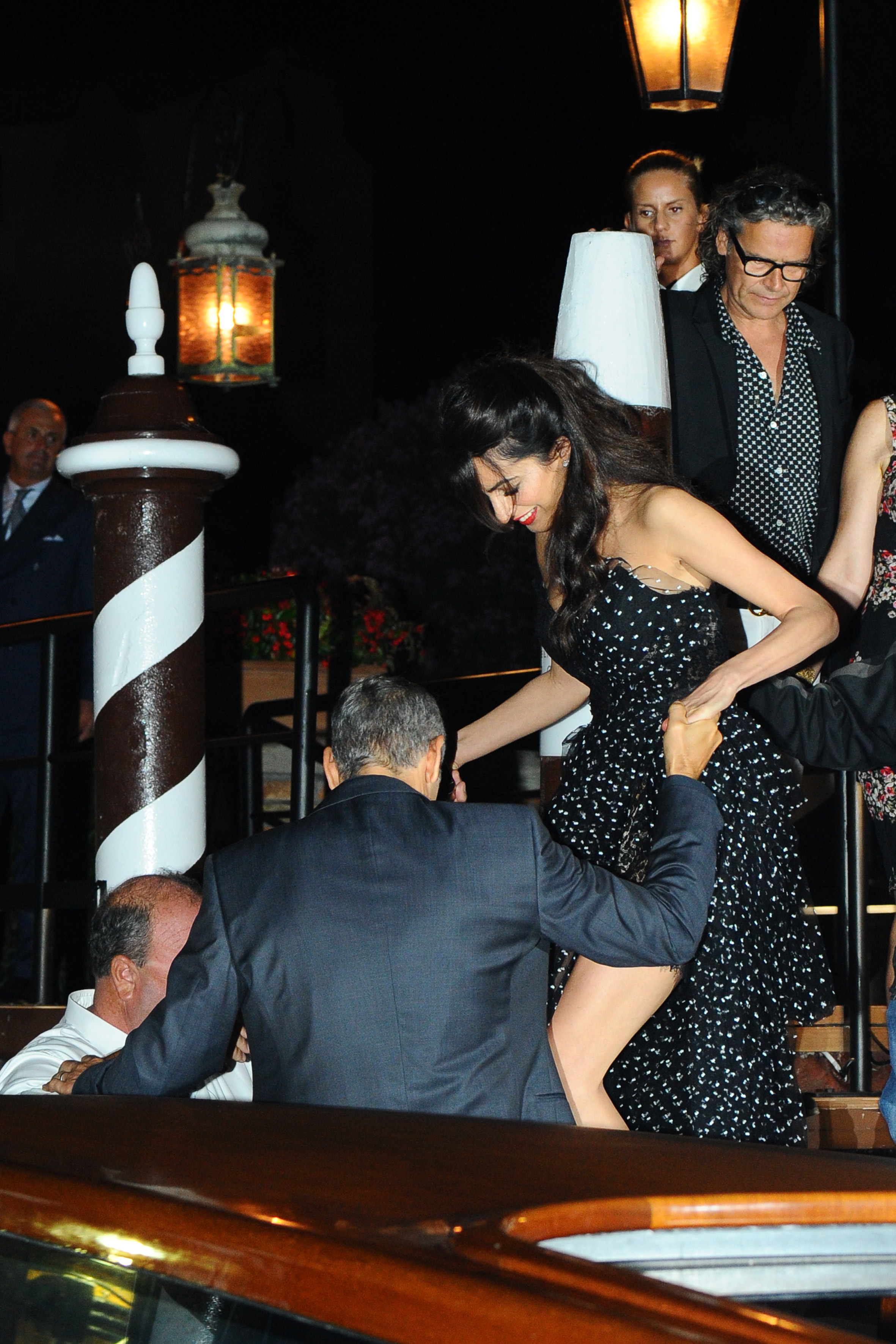 George Clooney and Amal Alamuddin are seen leaving their hotel on August 31, 2017 in Venice, Italy. <P> Pictured: George Clooney and Amal Alamuddin <B>Ref: SPL1566358  310817  </B><BR/> Picture by: Splash News<BR/> </P><P> <B>Splash News and Pictures</B><BR/> Los Angeles:310-821-2666<BR/> New York:212-619-2666<BR/> London:870-934-2666<BR/> <span id=