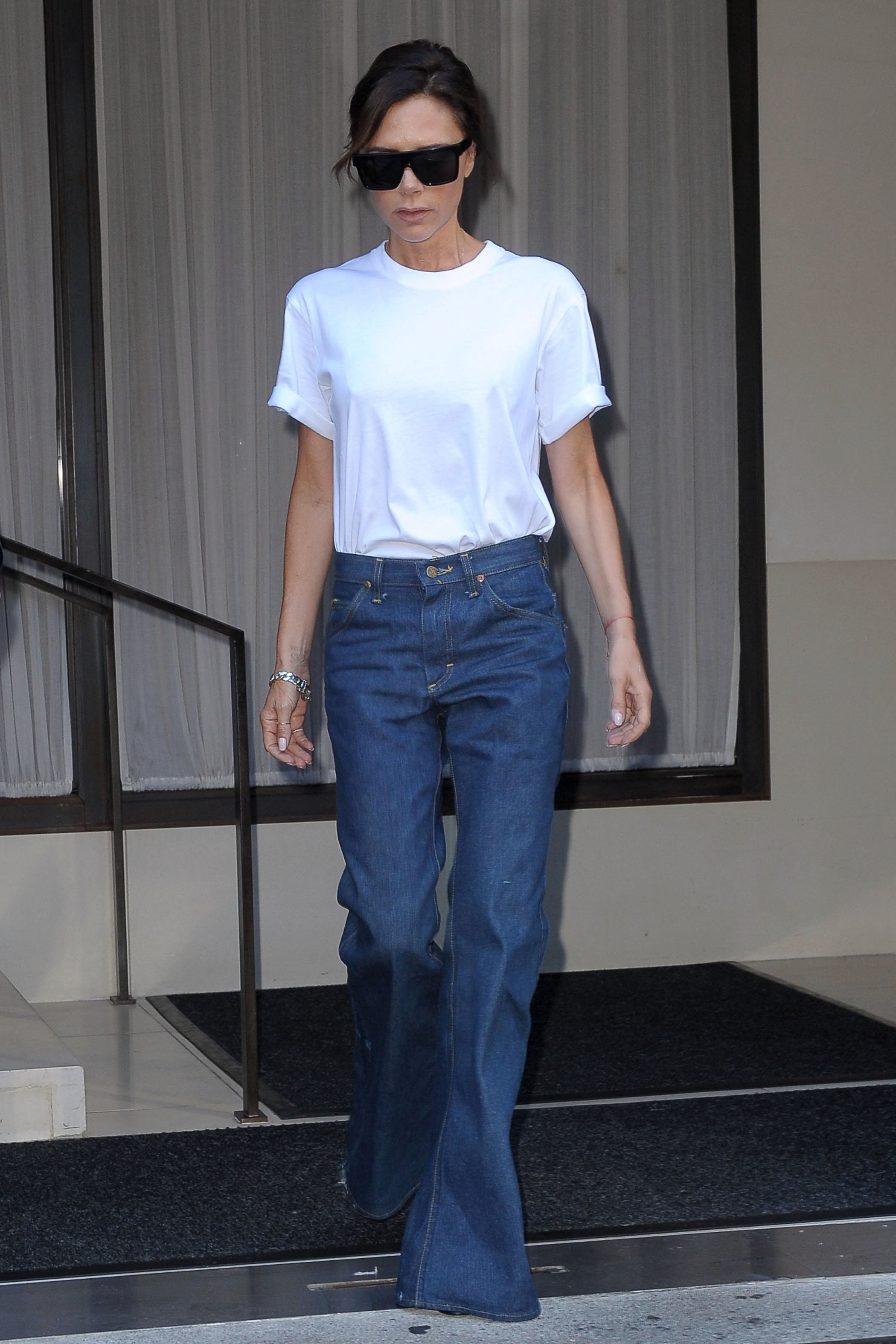 , New York, NY - 9/7/17-Victoria Beckham Sporting a Retro Denim Look -PICTURED: Victoria Beckham -, Image: 348596160, License: Rights-managed, Restrictions: , Model Release: no, Credit line: Profimedia, INSTAR Images
