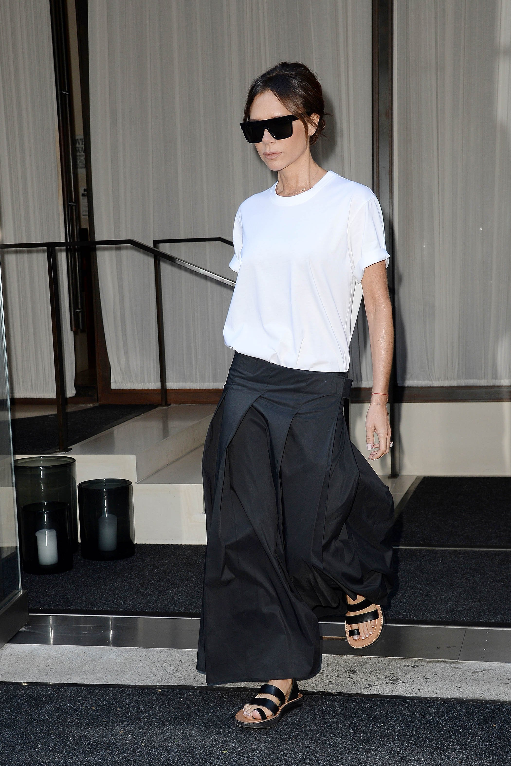, New York, NY - 9/8/17-Jessica Alba and Victoria Beckham Leave their Hotels During NYFW  -PICTURED: Victoria Beckham -, Image: 348712004, License: Rights-managed, Restrictions: , Model Release: no, Credit line: Profimedia, INSTAR Images