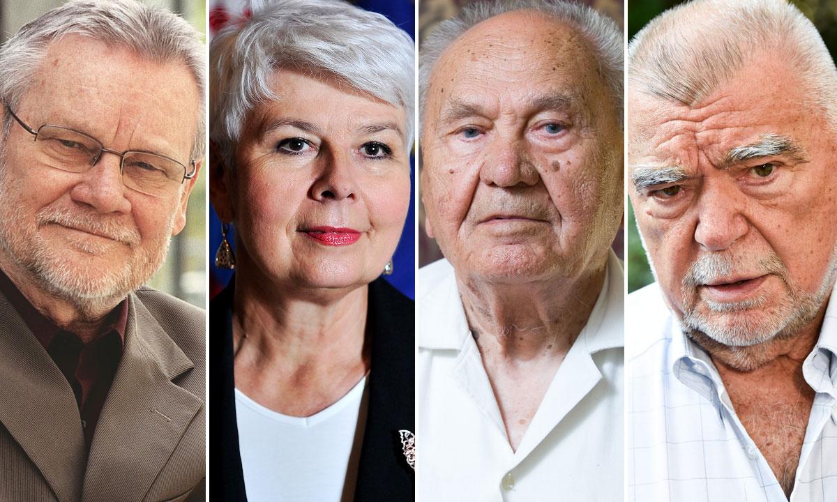 Ivica Račan, Jadranka Kosor, Josip Manolić, Stjepan Mesić