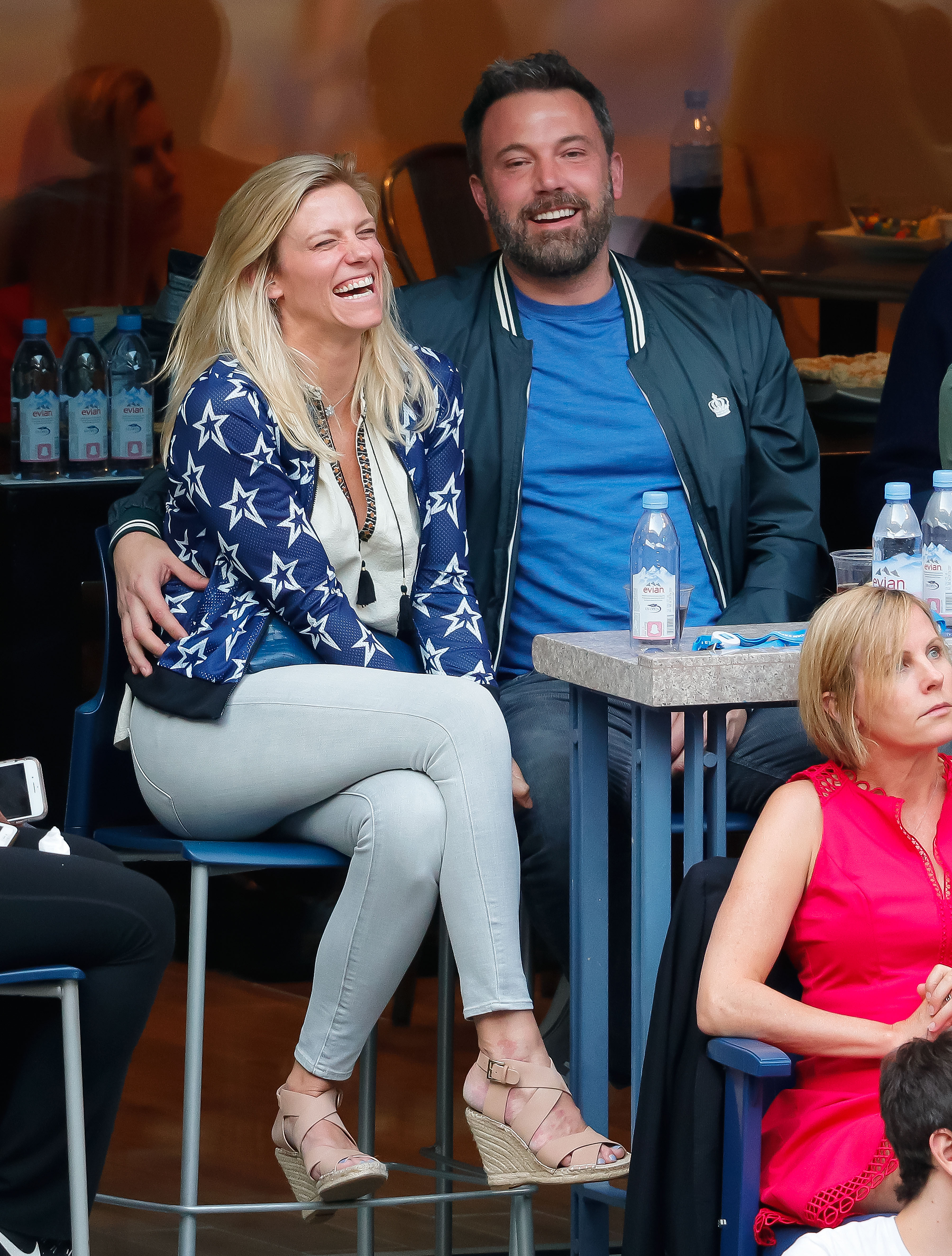 Ben Affleck and Lindsay Shookus look very much in love when watching the 2017 US Open Men's Championships Nadal vs. Anderson at Arthur Ashe Stadium in Flushing, New York. <P> Pictured: Ben Affleck, Lindsay Shookus <B>Ref: SPL1574905  100917  </B><BR/> Picture by: XactpiX/Splash News<BR/> </P><P> <B>Splash News and Pictures</B><BR/> Los Angeles:310-821-2666<BR/> New York:212-619-2666<BR/> London:870-934-2666<BR/> <span id=