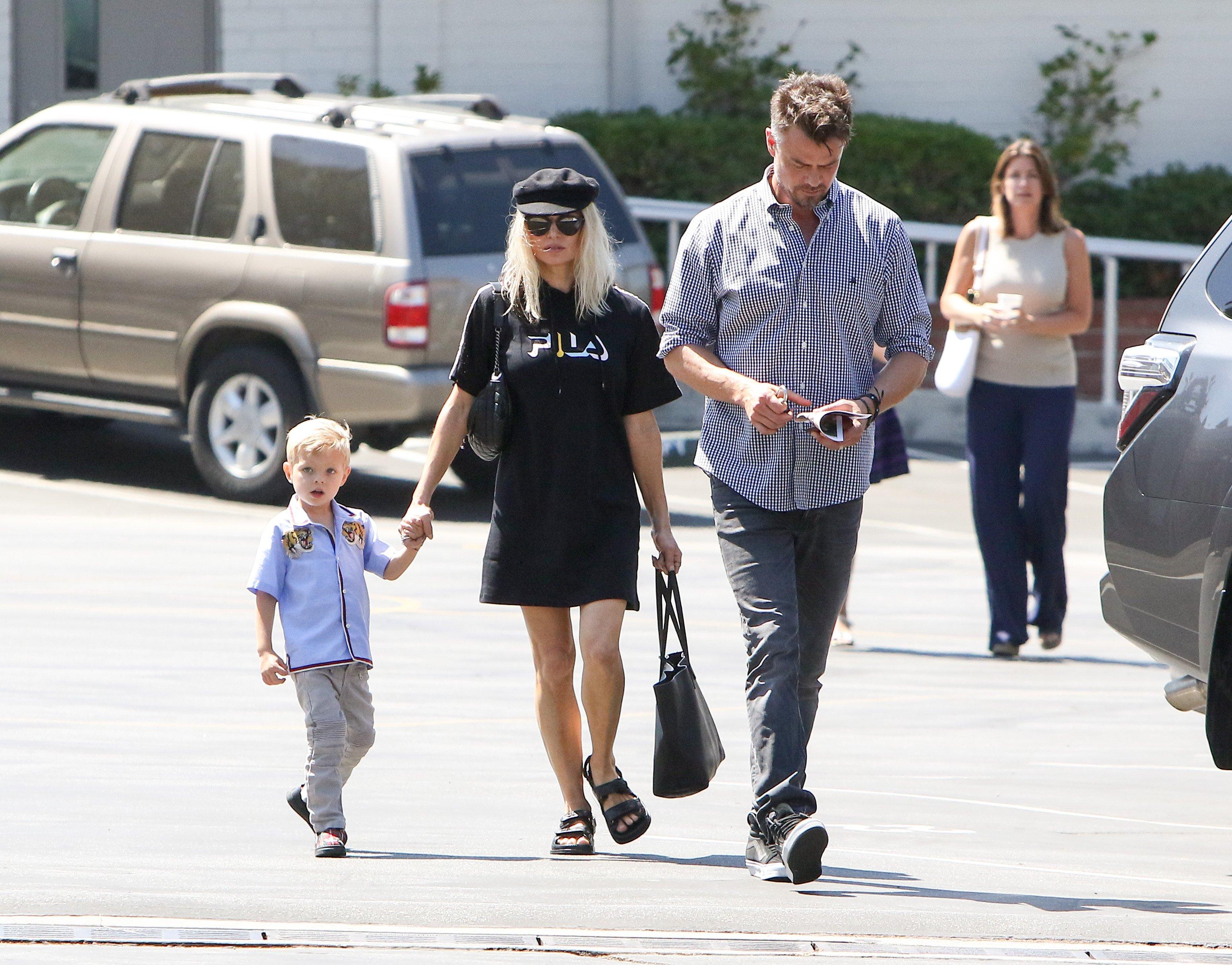 Fergie i Josh Duhamel sa sinom u lipnju 2017., kada su još u tajnosti držali informaciju da su se razveli