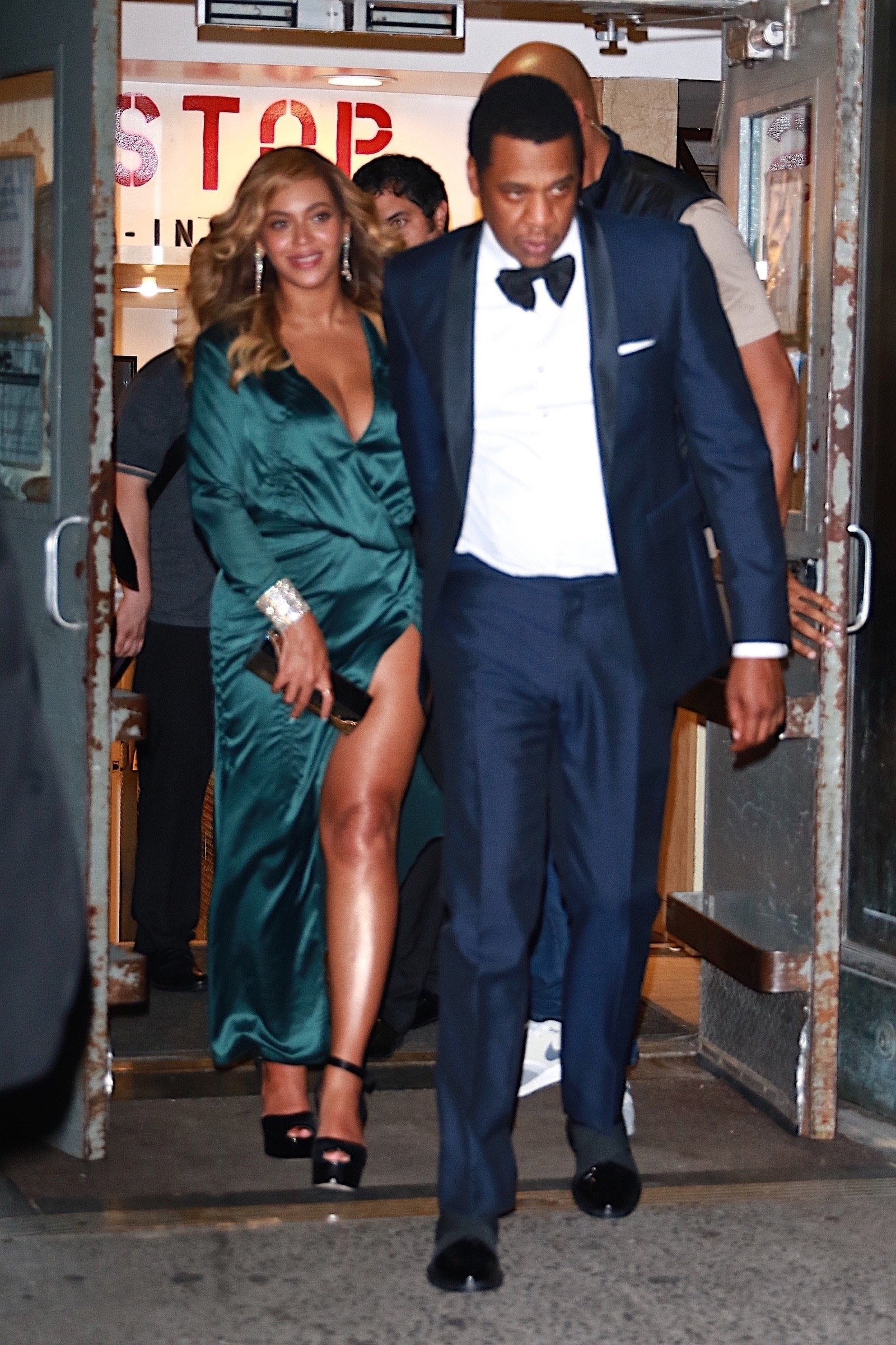New York, NY  - Jay-Z and Beyonce leave Rihanna's 3rd Annual Diamond Ball Benefitting The Clara Lionel Foundation at Cipriani Wall Street.  Pictured: Beyonce, Jay-Z  BACKGRID USA 14 SEPTEMBER 2017, Image: 349416283, License: Rights-managed, Restrictions: , Model Release: no, Credit line: Profimedia, AKM-GSI