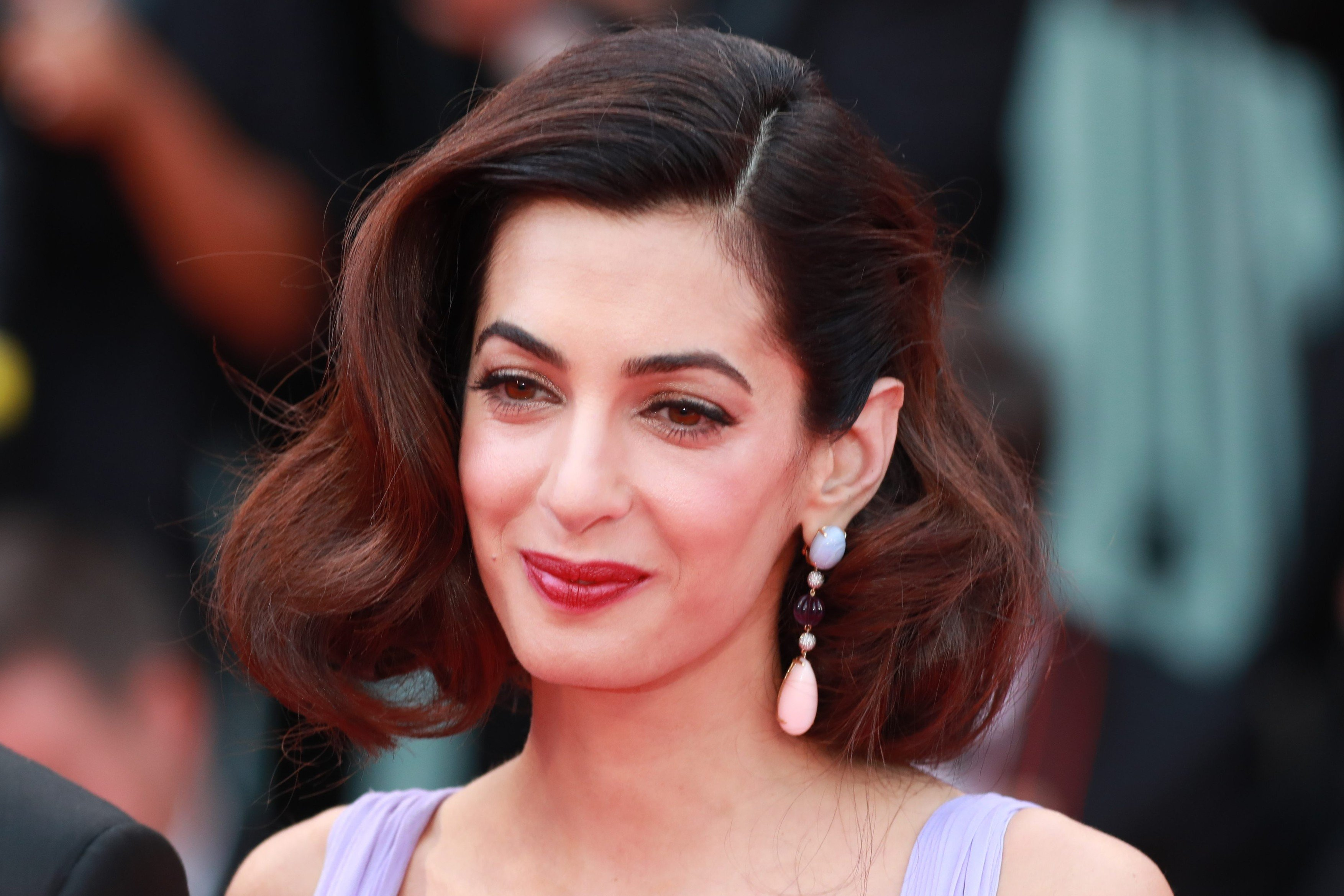 ; Actors Matt Damon and Julianne Moore with US Director George Clooney and his wife Amal Clooney arrive on the Red Carpet for the screening of the 'Suburbicon' photocall during the 74th Venice Film Festival on September 2, 2017 in Venice, Italy Pictured: Amal Clooney, Image: 348123158, License: Rights-managed, Restrictions: , Model Release: no, Credit line: Profimedia, MAXPPP