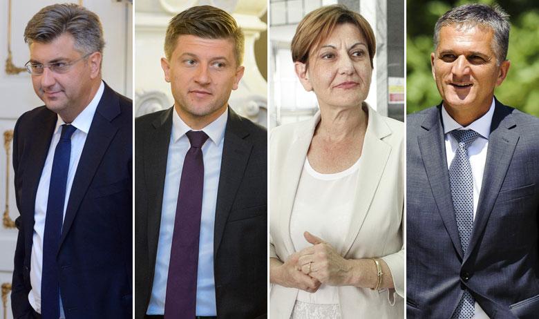 Andrej Plenković, Zdravko Marić, Martina Dalić i Goran Marić