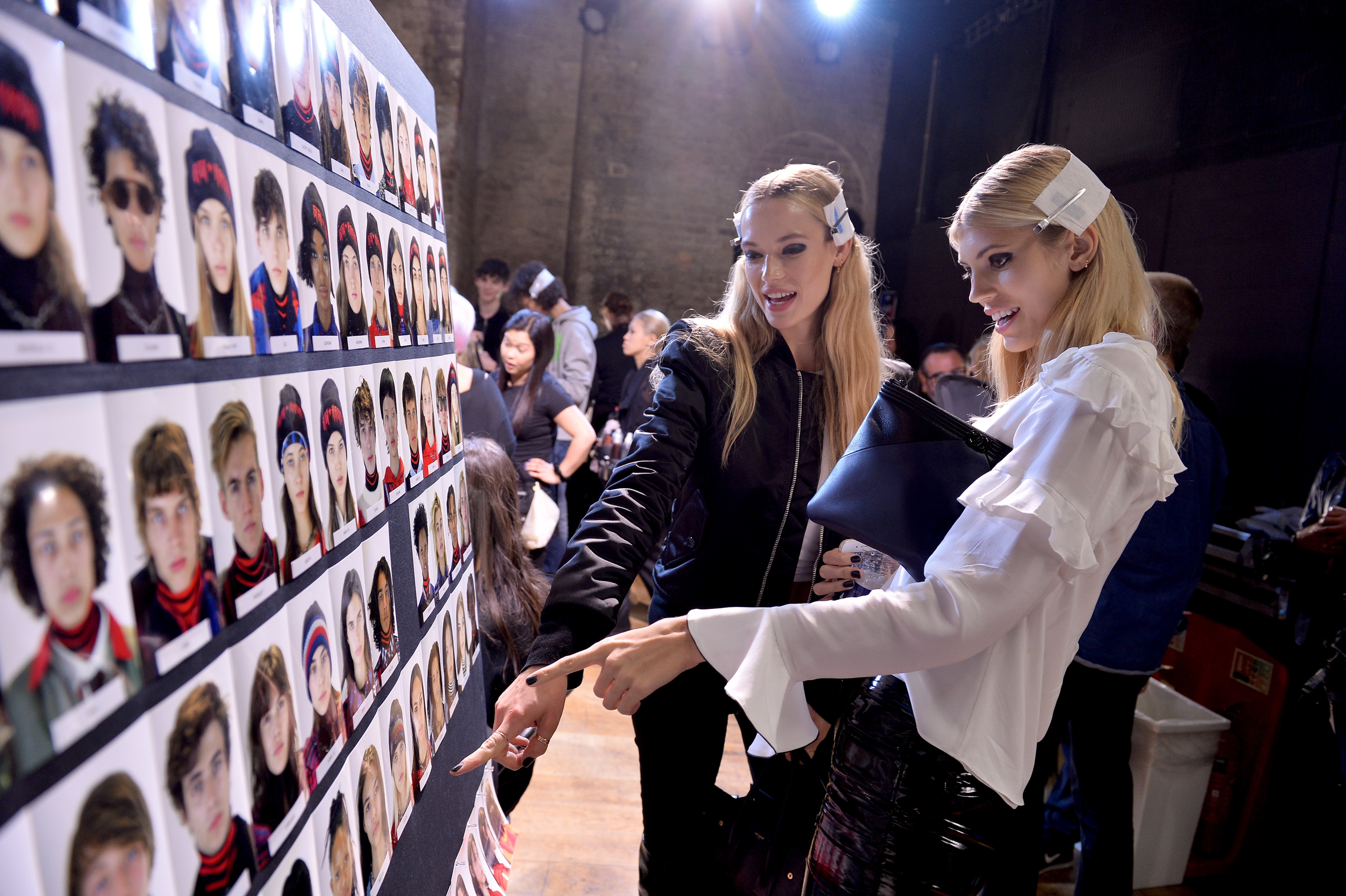 LONDON, ENGLAND - SEPTEMBER 19:  Models backstage ahead of the Tommy Hilfiger TOMMYNOW Fall 2017 Show during London Fashion Week September 2017 at the Roundhouse on September 19, 2017 in London, England.  (Photo by Jeff Spicer/Getty Images for Tommy Hilfiger)