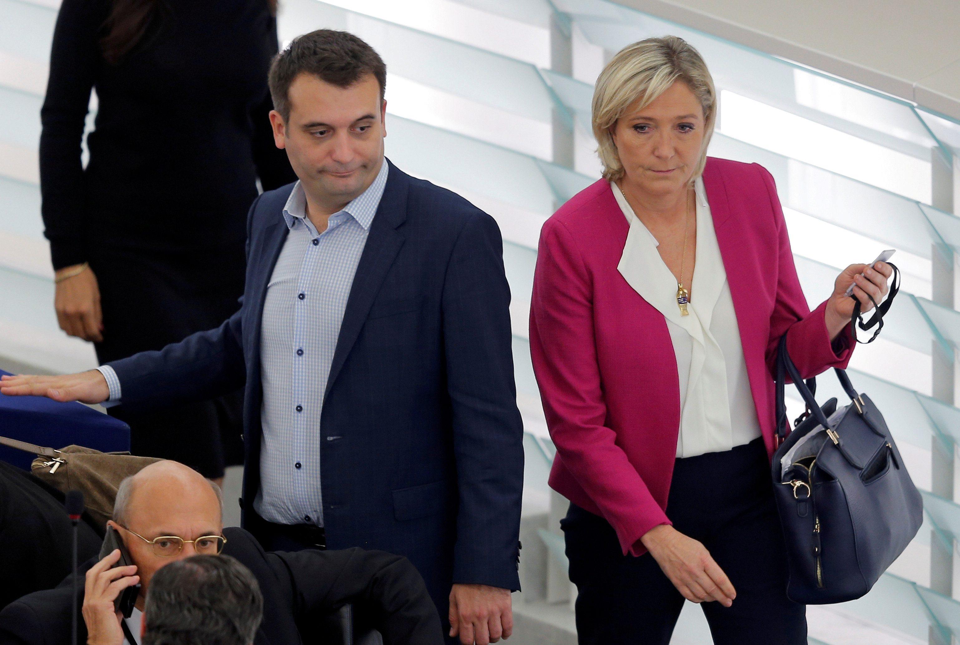 Florian Philippot i Marine Le Pen